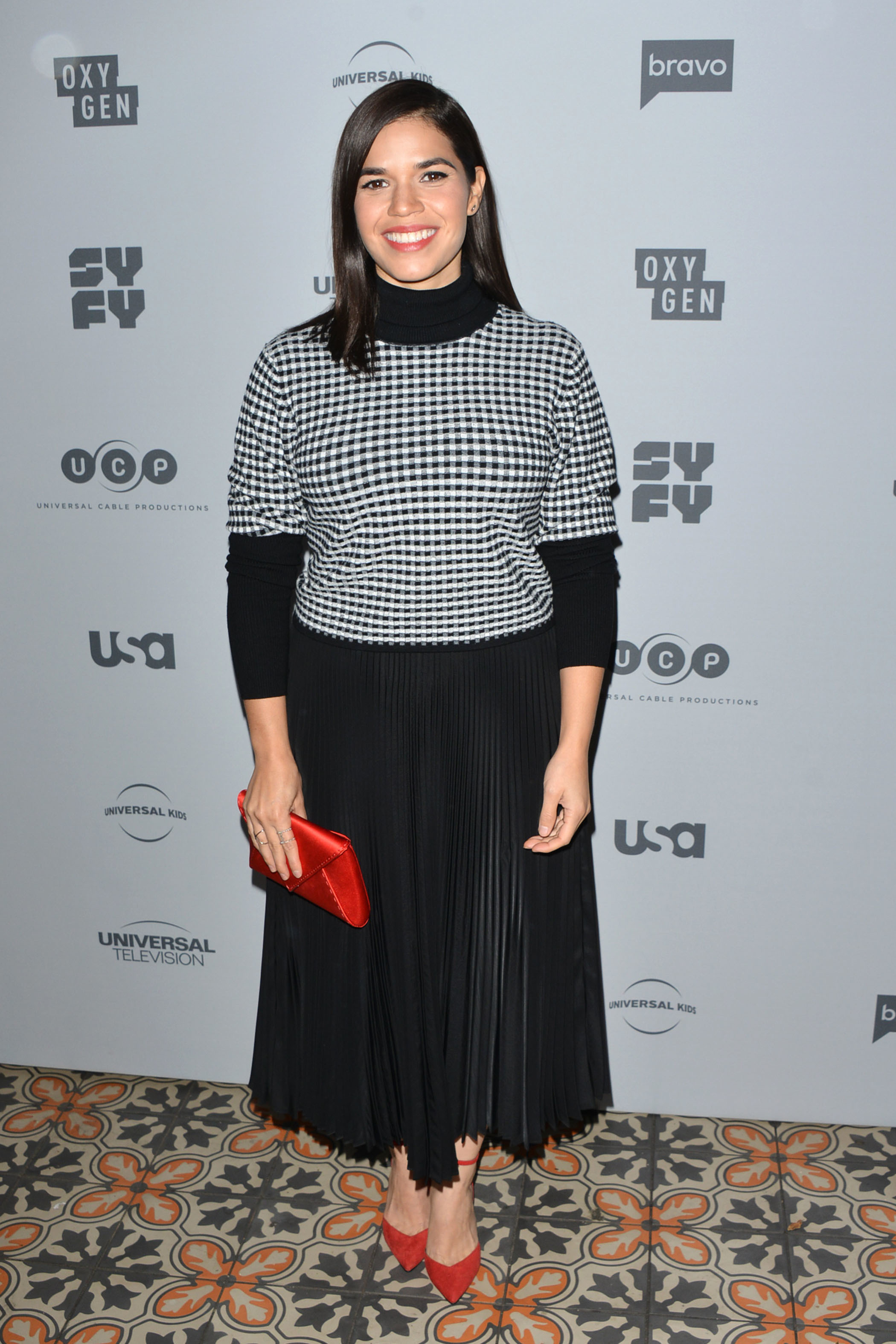 America Ferrera attends the NBCUniversal Holiday Kick Off Event in Los Angeles on Nov. 13, 2017.