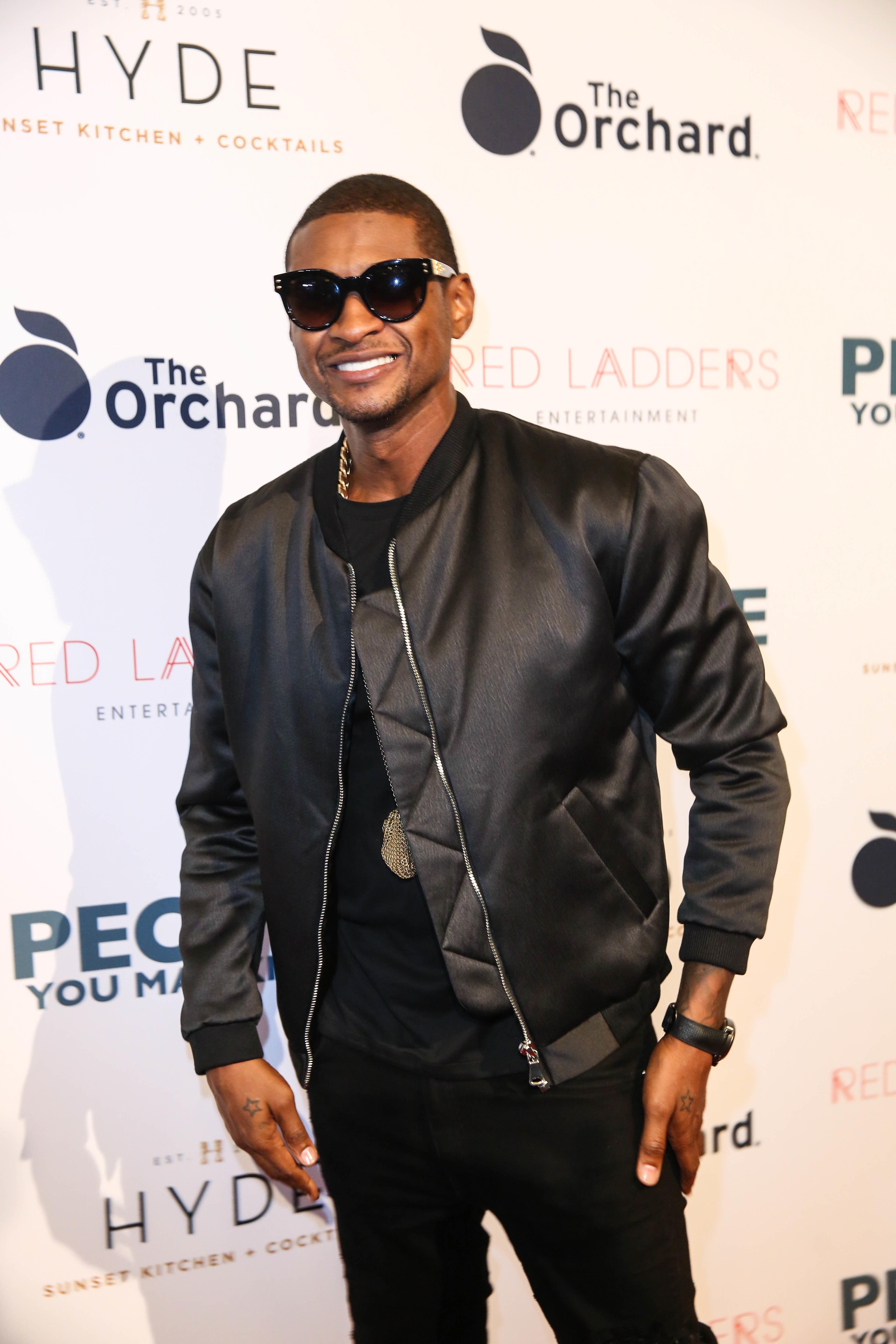 """Usher attends the """"People You May Know"""" premiere in Los Angeles on Nov. 13, 2017."""