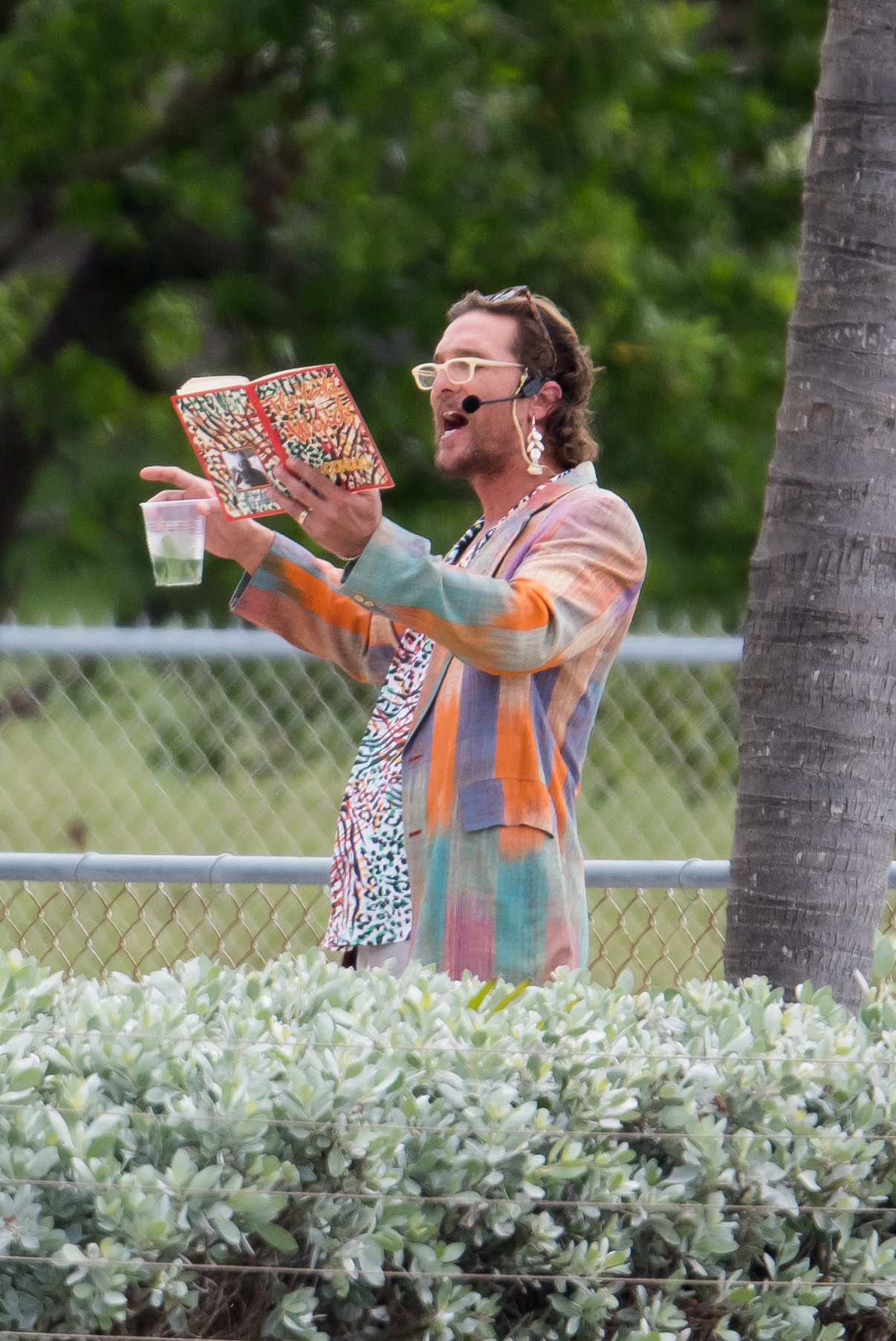 Matthew McConaughey films in Miami on Nov. 2, 2017.