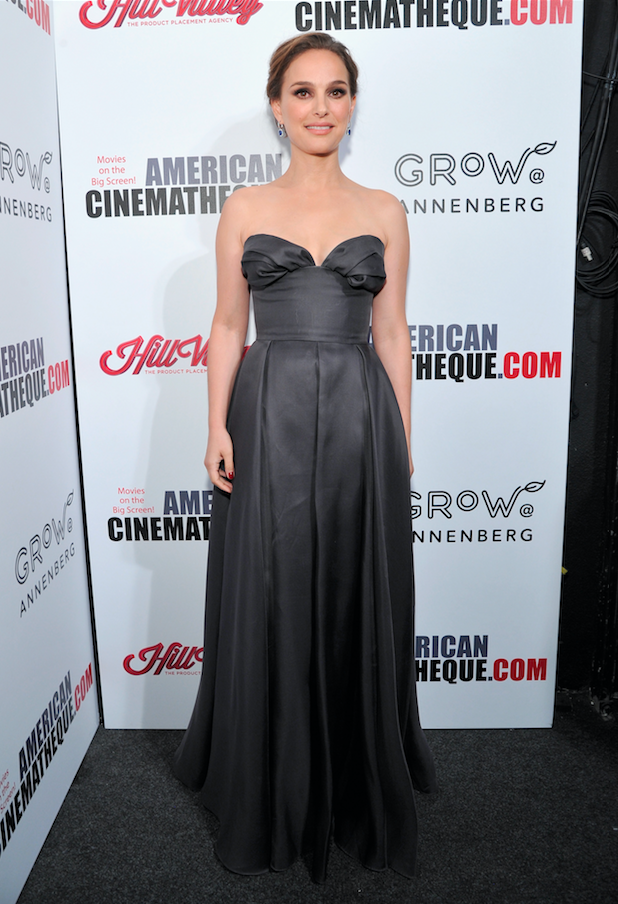 Natalie Portman attends the 31st American Cinematheque Awards at the Beverly Hilton hotel in Beverly Hills on Nov. 10, 2017.