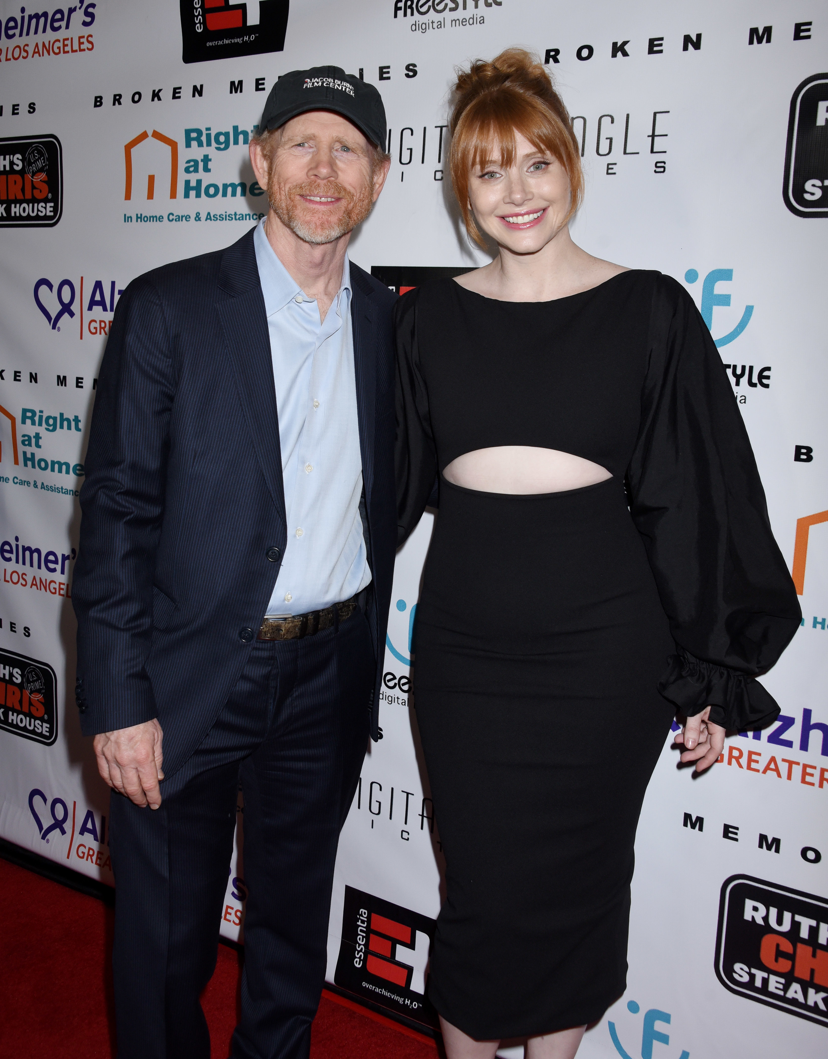 "Ron Howard and Bryce Dallas Howard attend the ""Broken Memories"" premiere in Los Angeles on Nov. 14, 2017."