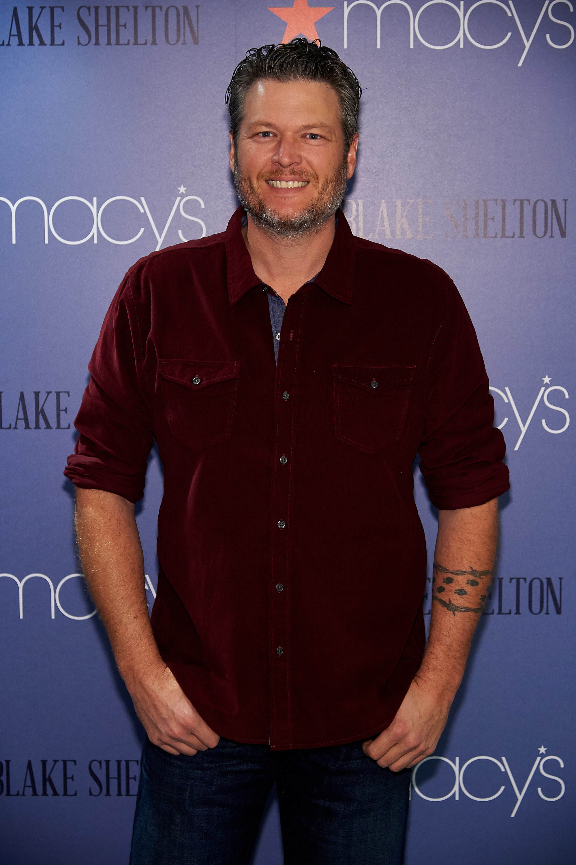 "Blake Shelton attends the launch of ""BS by Blake Shelton""at Macy's Herald Square in New York City on Nov. 2, 2017."
