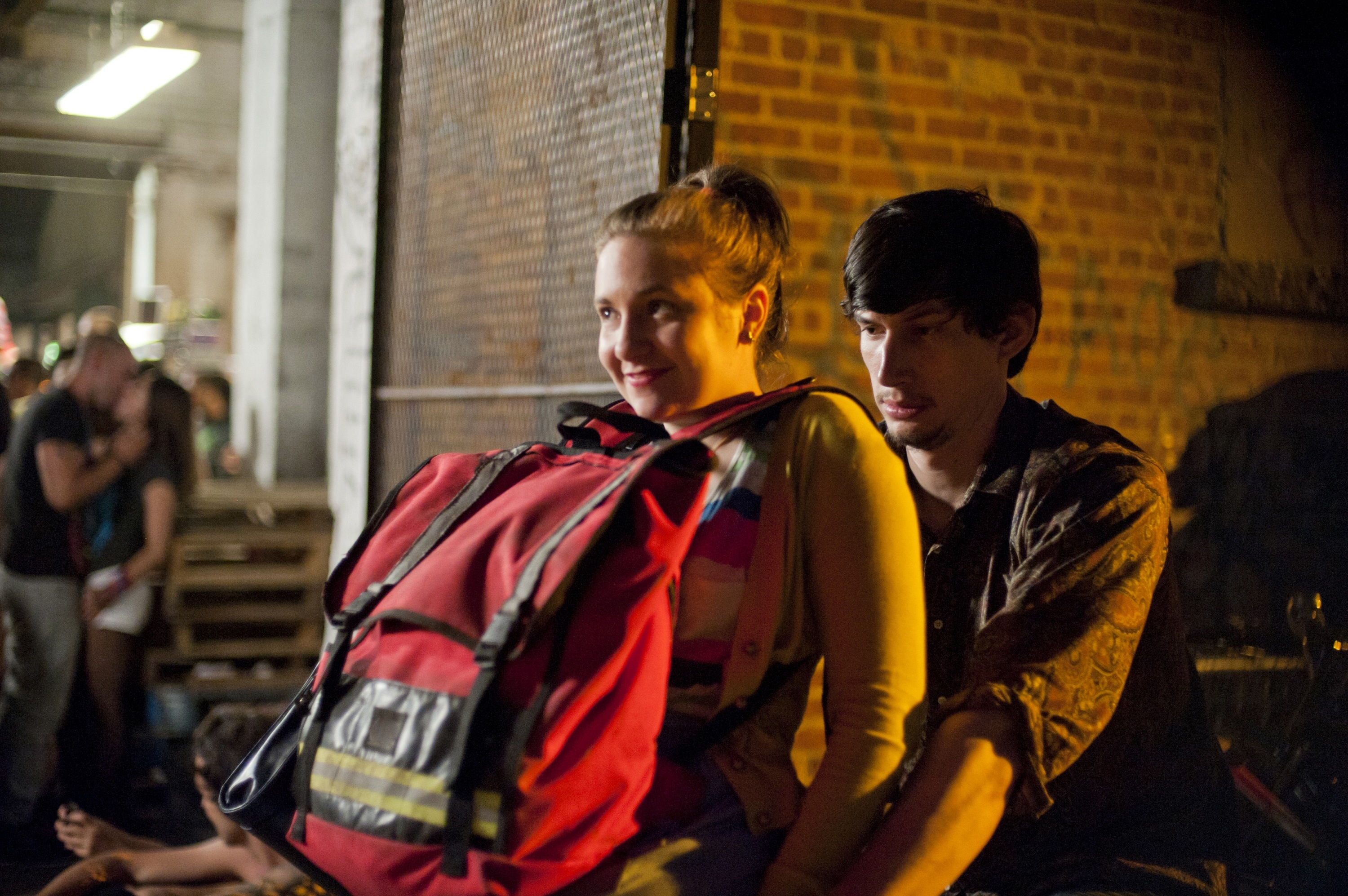 """Lena Dunham and Adam Driver from Season 1 of """"Girls"""" in 2012."""