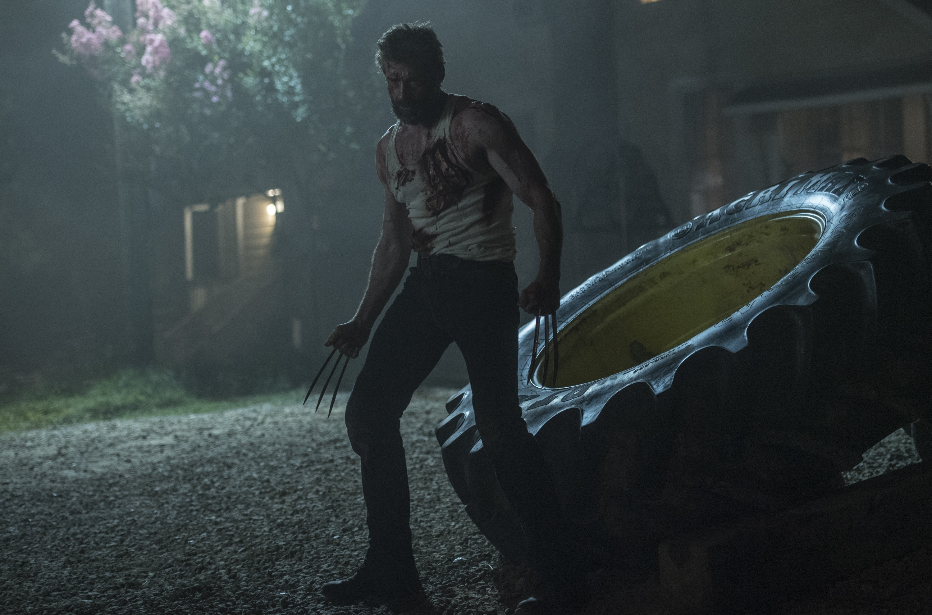 """Hugh Jackman stars as Wolverine in the 2017 film """"Logan,"""" which premiered in the U.S. on March 3."""