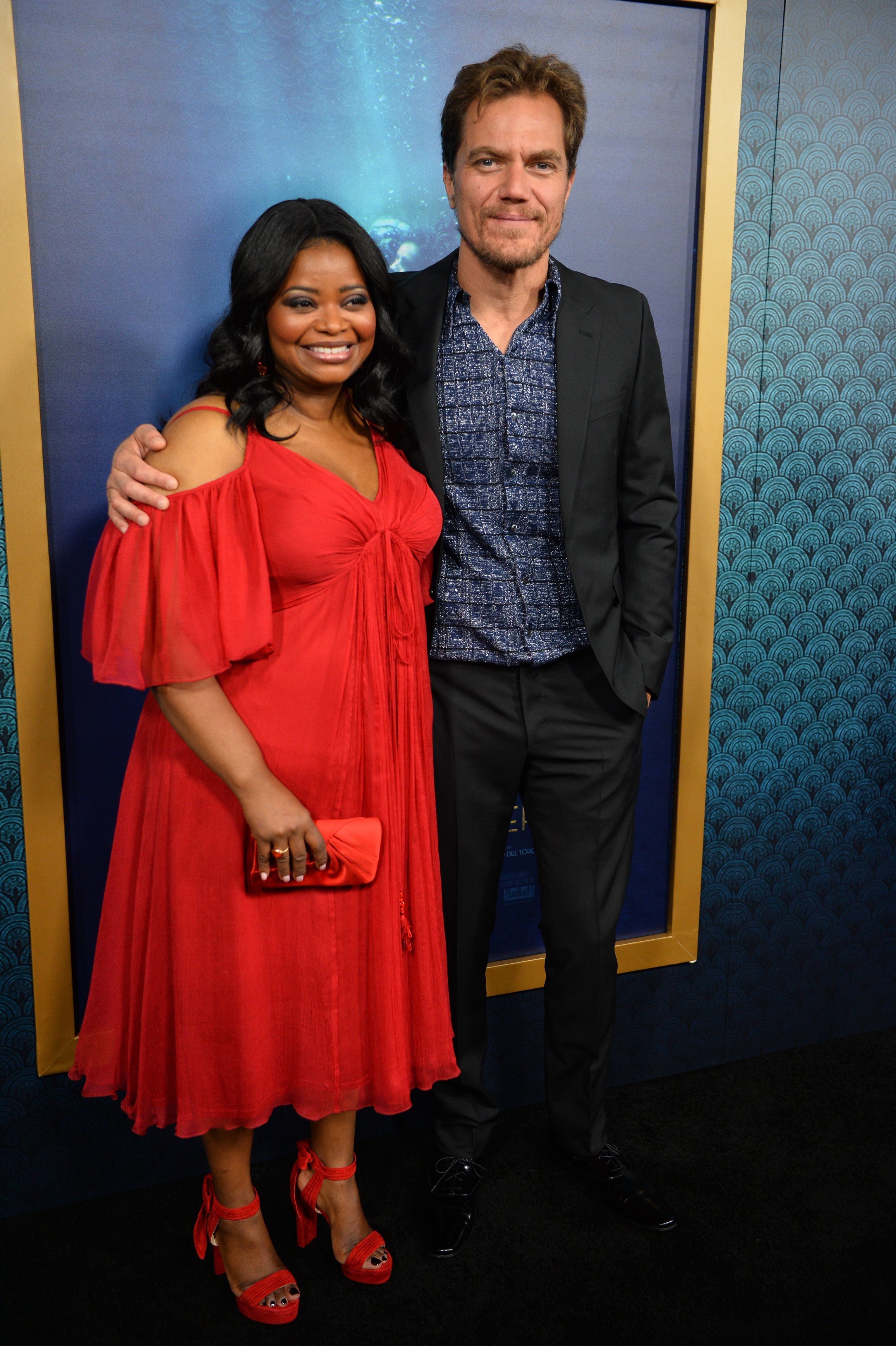 """Octavia Spencer and Michael Shannon attend """"The Shape of Water"""" premiere in Los Angeles on Nov. 15, 2017."""