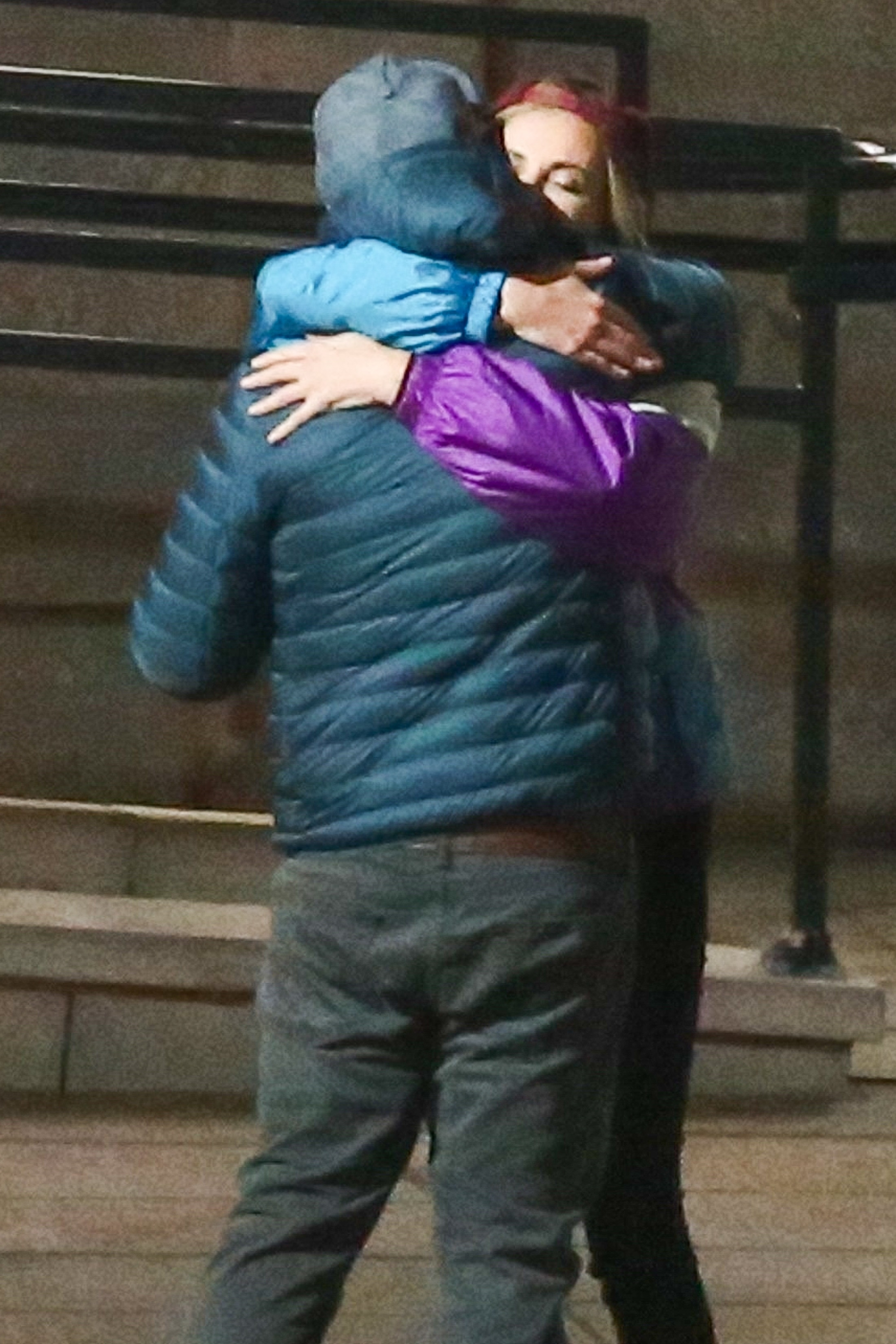 Charlize Theron and Seth Rogen were seen sharing a hug while filming their new movie in Montreal, Canada on Oct. 27, 2017.