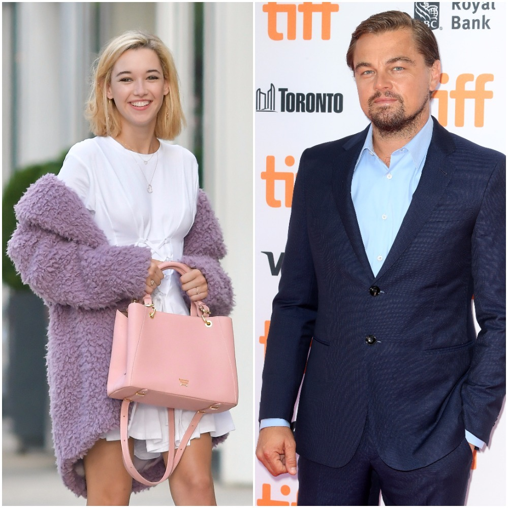 Sarah Snyder and Leonardo DiCaprio appear in a composite image from 2016 and 2017.