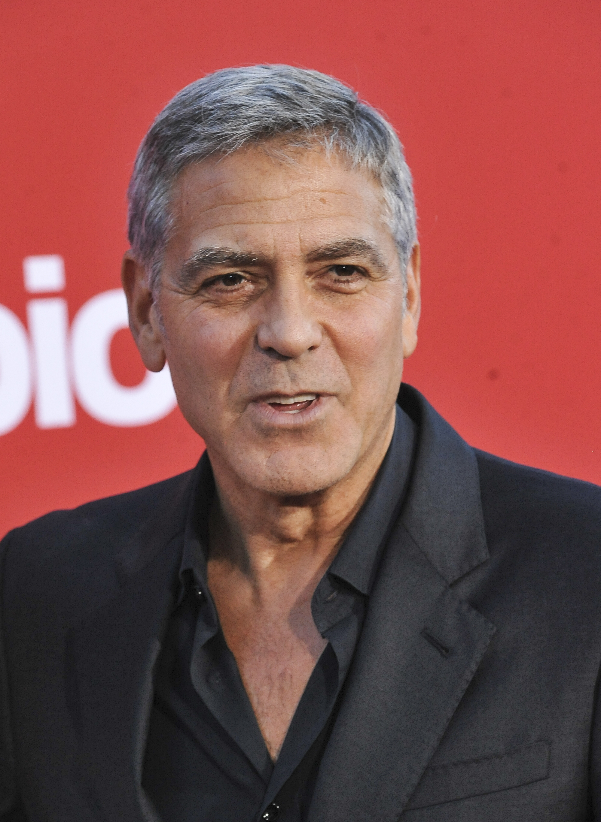 """George Clooney attends the premiere of """"Suburbicon"""" in Los Angeles on Oct. 23, 2017."""