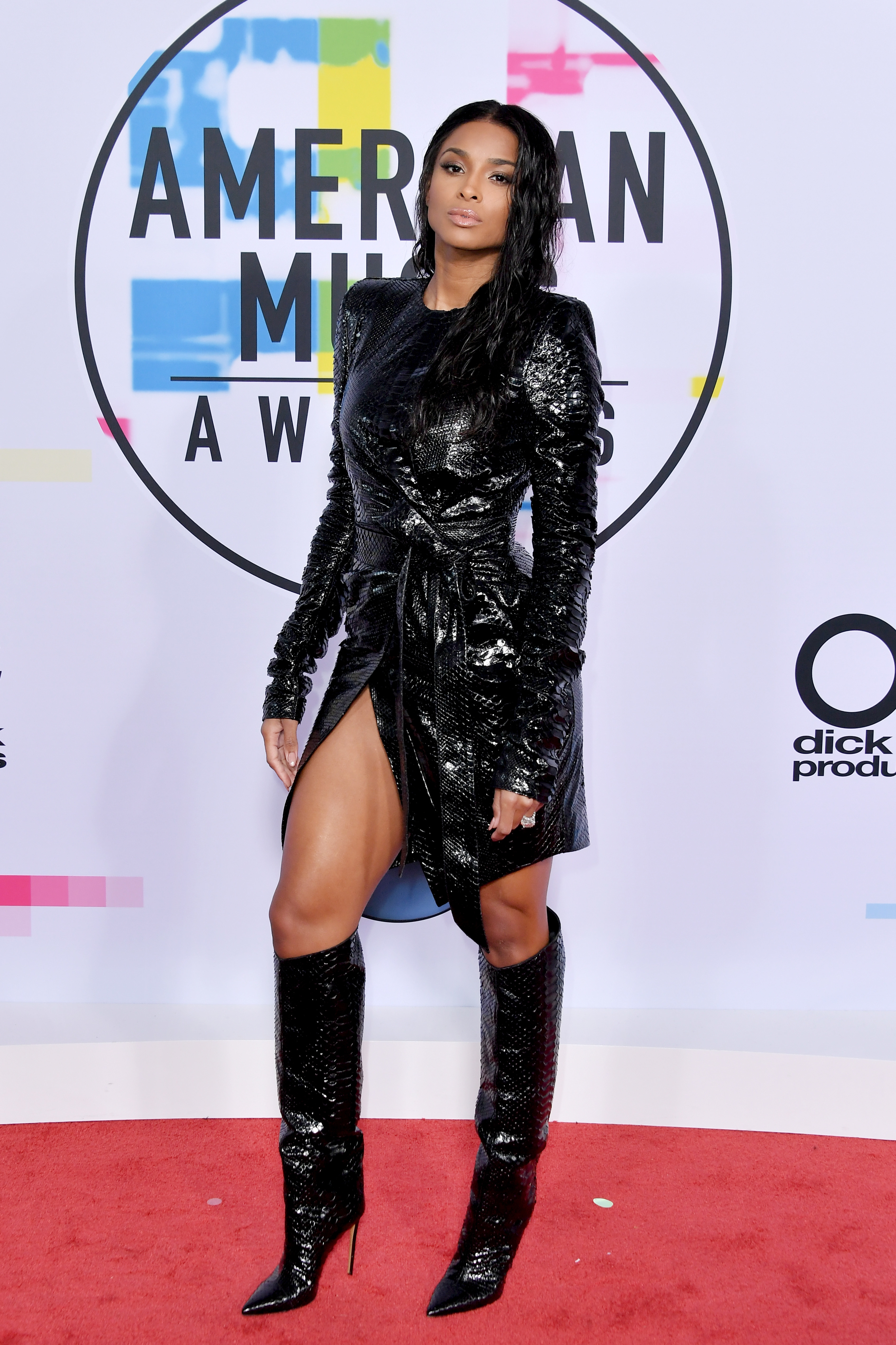 Ciara attends the American Music Awards at the Microsoft Theater in Los Angeles on Nov. 19, 2017.
