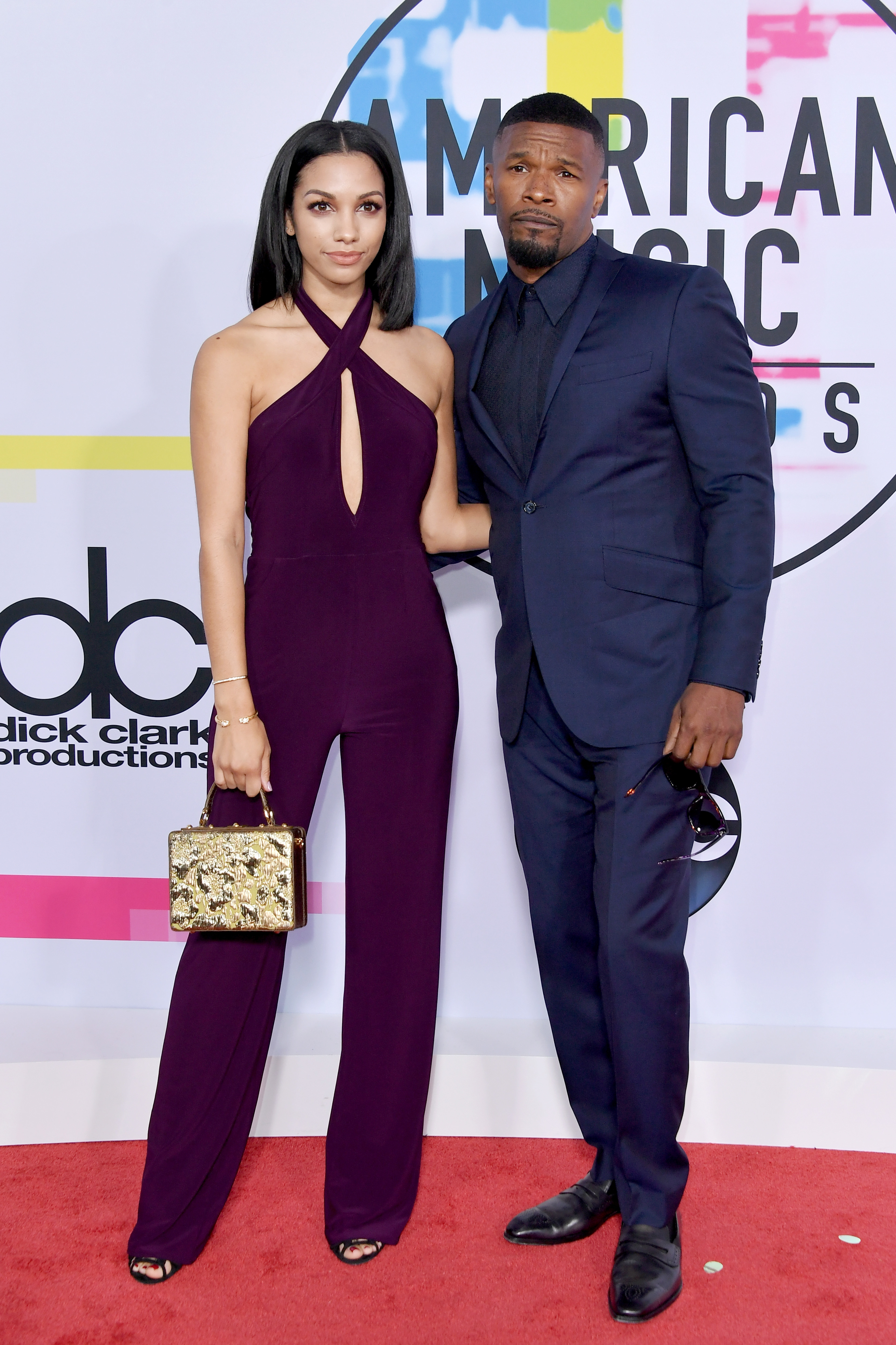 Corinne Foxx and Jamie Foxx attend the 2017 American Music Awards at Microsoft Theater in Los Angeles on Nov. 19, 2017.