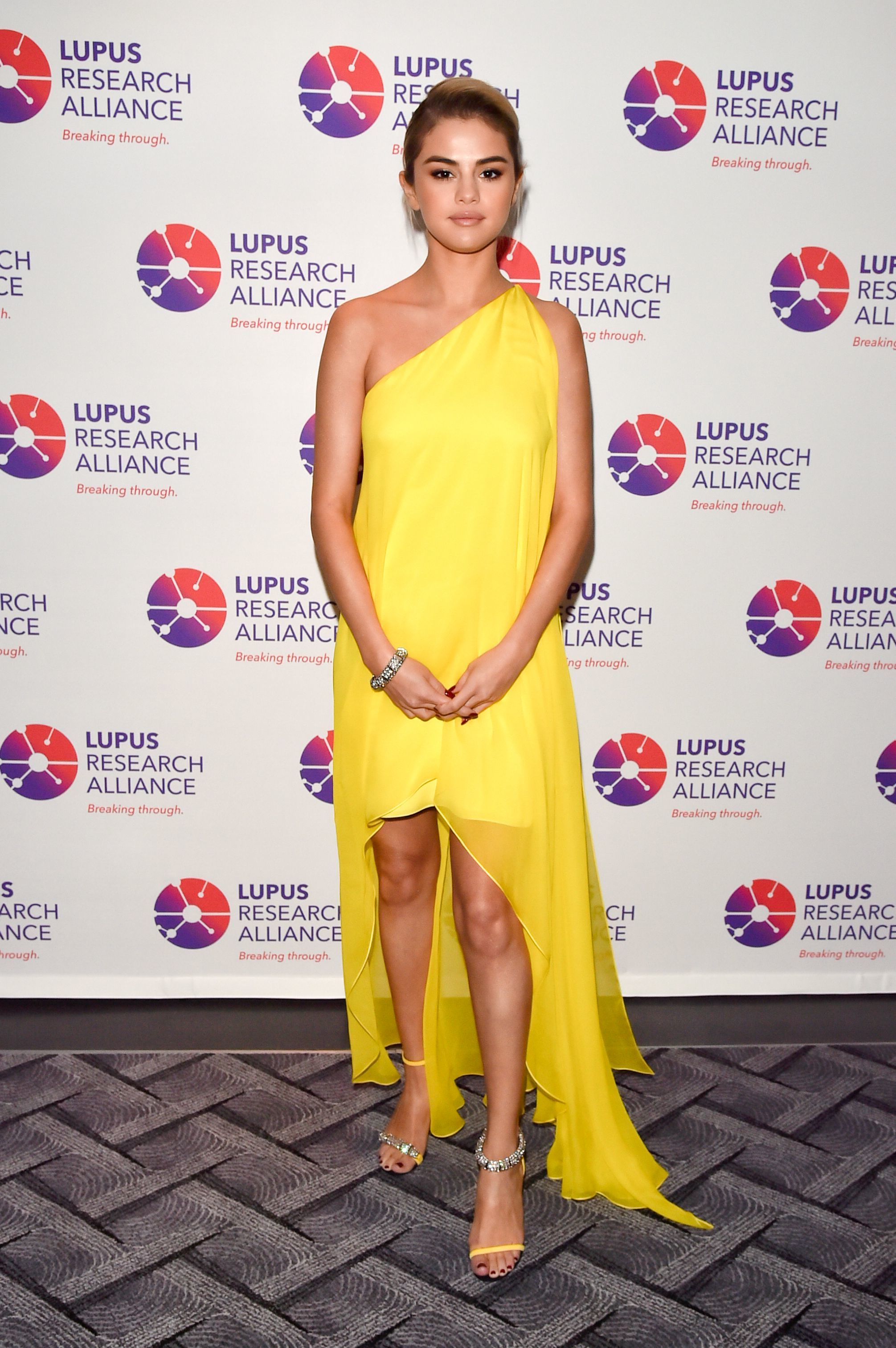Selena Gomez attends the Lupus Research Alliance Breaking Through Lupus Gala in New York City on Nov. 20, 2017.