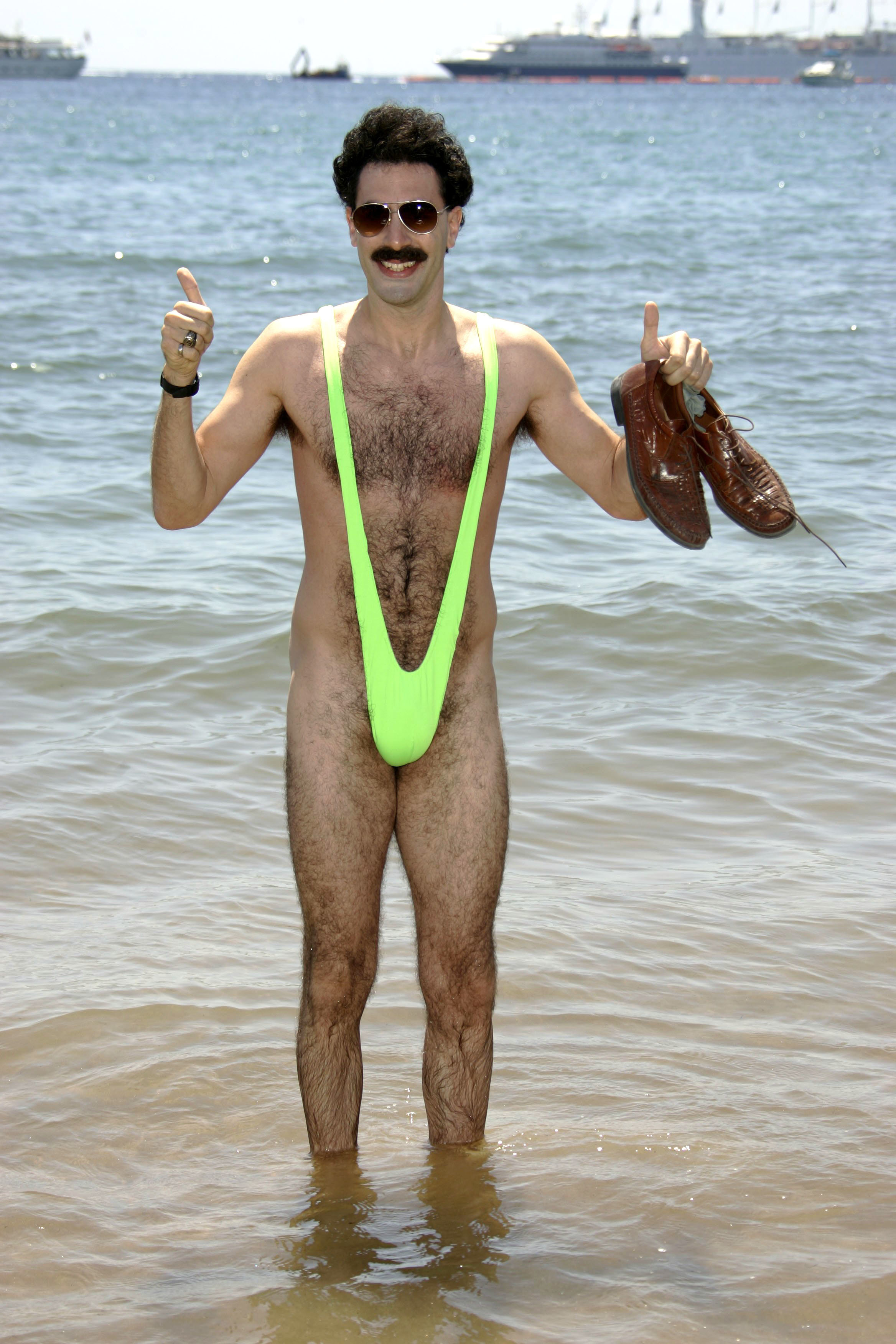 "Sacha Baron Cohen attends the ""Borat"" photocall at the Cannes Film Festival in France on May 24, 2006."