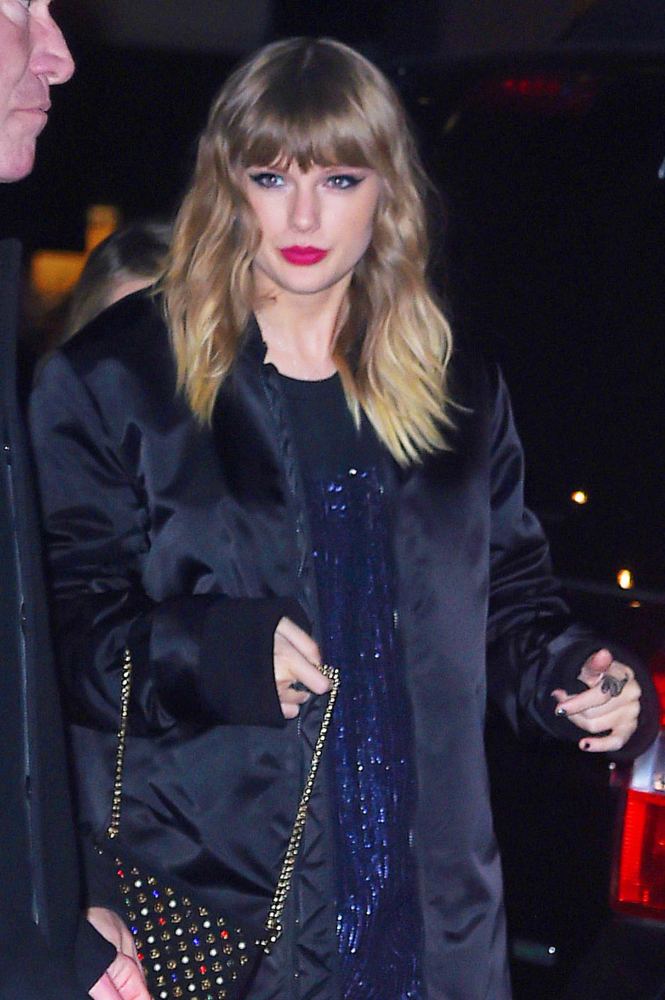 """Taylor Swift arrives to the """"Saturday Night Live"""" after party in New York City on Nov. 11, 2017."""