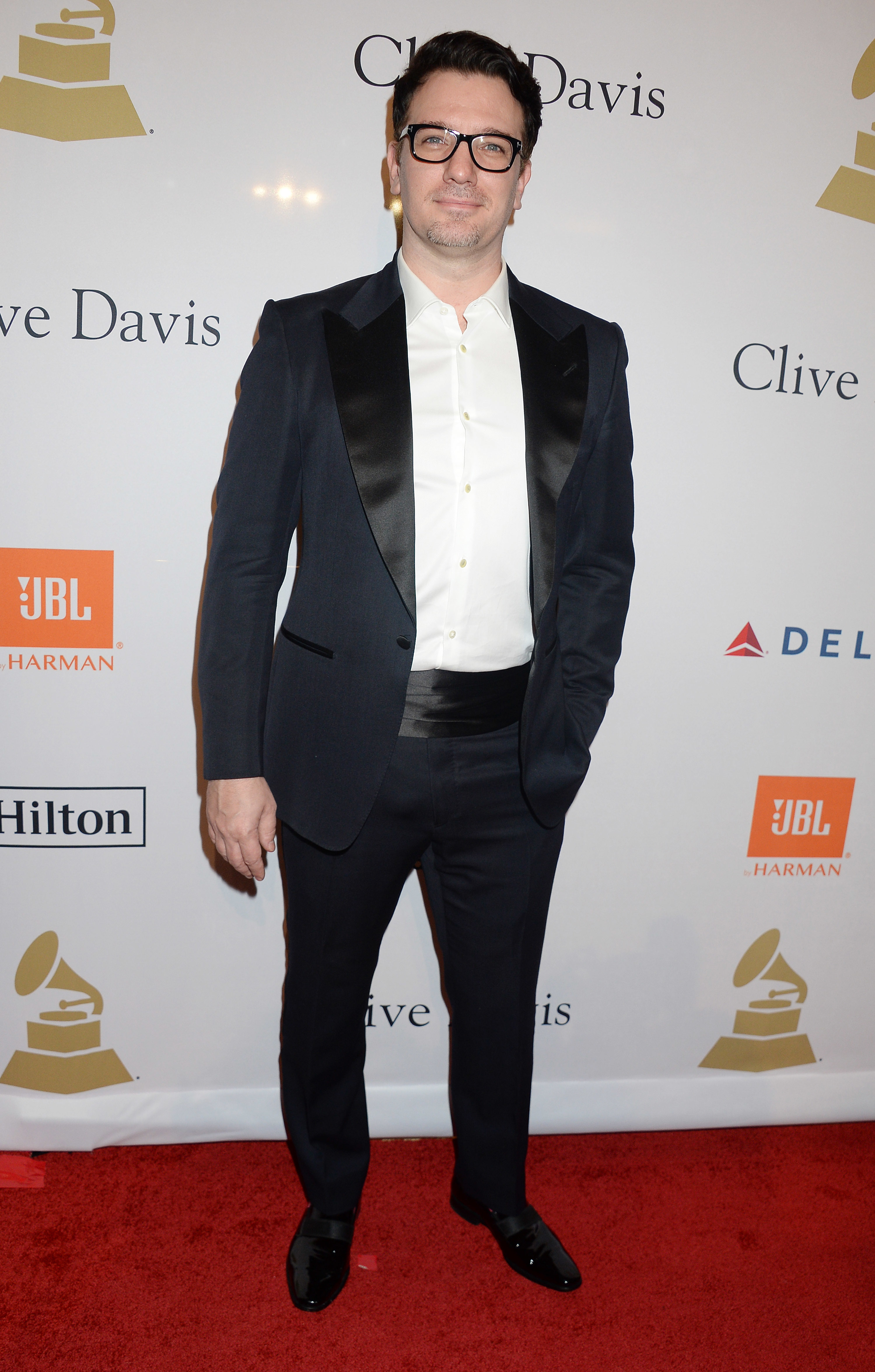 JC Chasez arrives at the Clive Davis Pre Grammy Party in Los Angeles on Feb. 11, 2017.