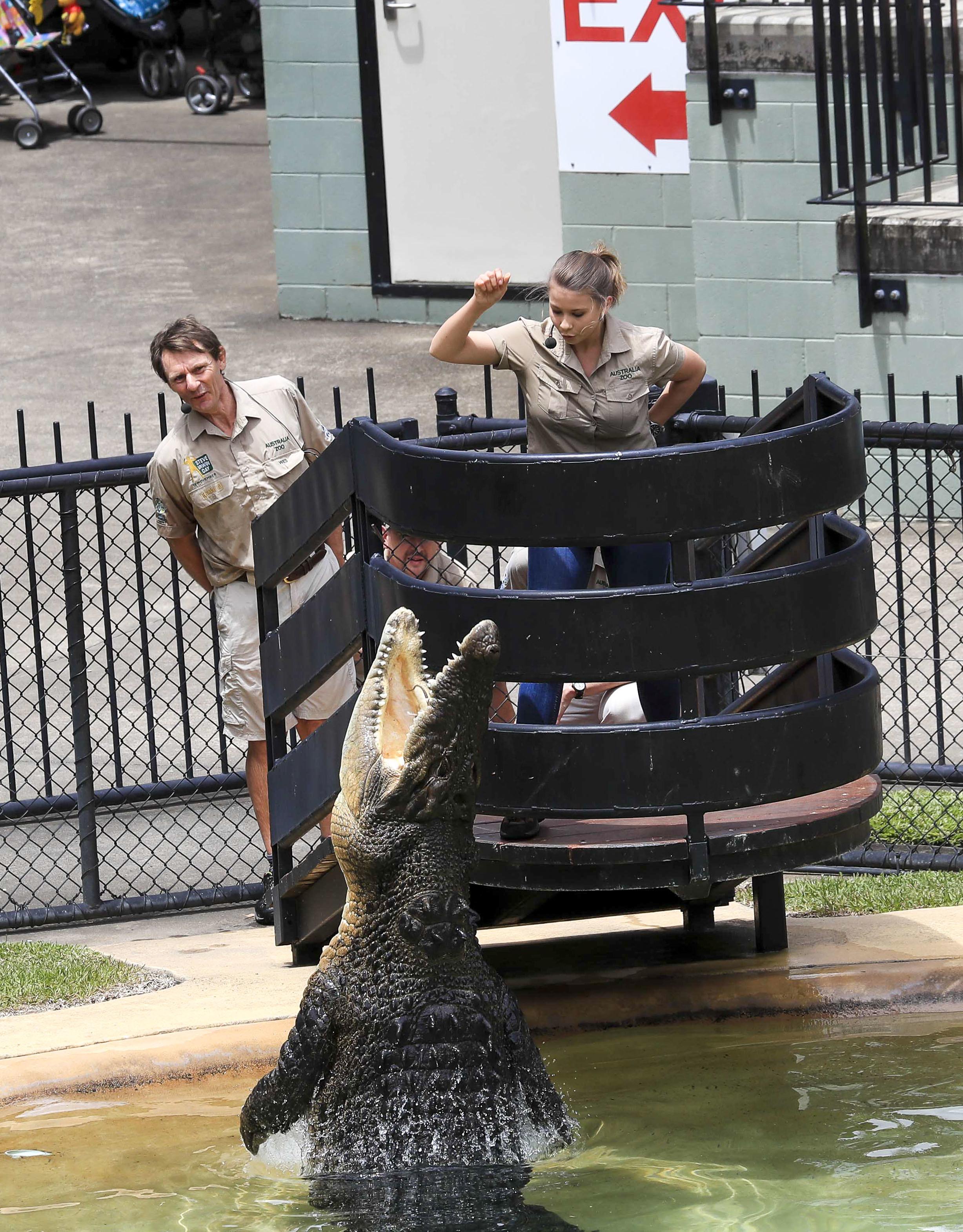 Bindi Irwin celebrates Steve Irwin Day at Australia Zoo in Australia on Nov. 16, 2017.