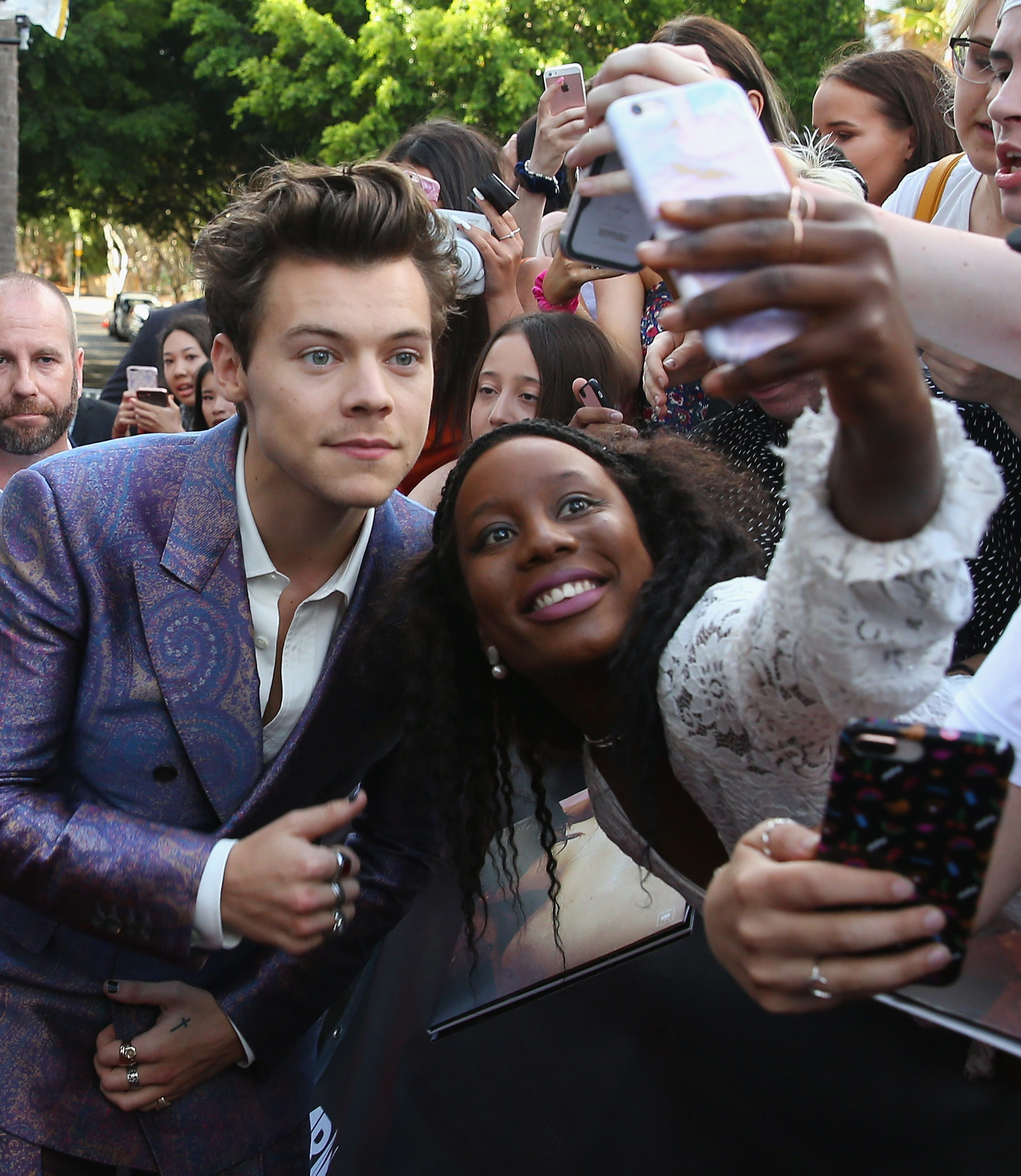 Harry Styles arrives for the 31st Annual ARIA Awards 2017 at The Star in Sydney, Australia, on Nov. 28, 2017.