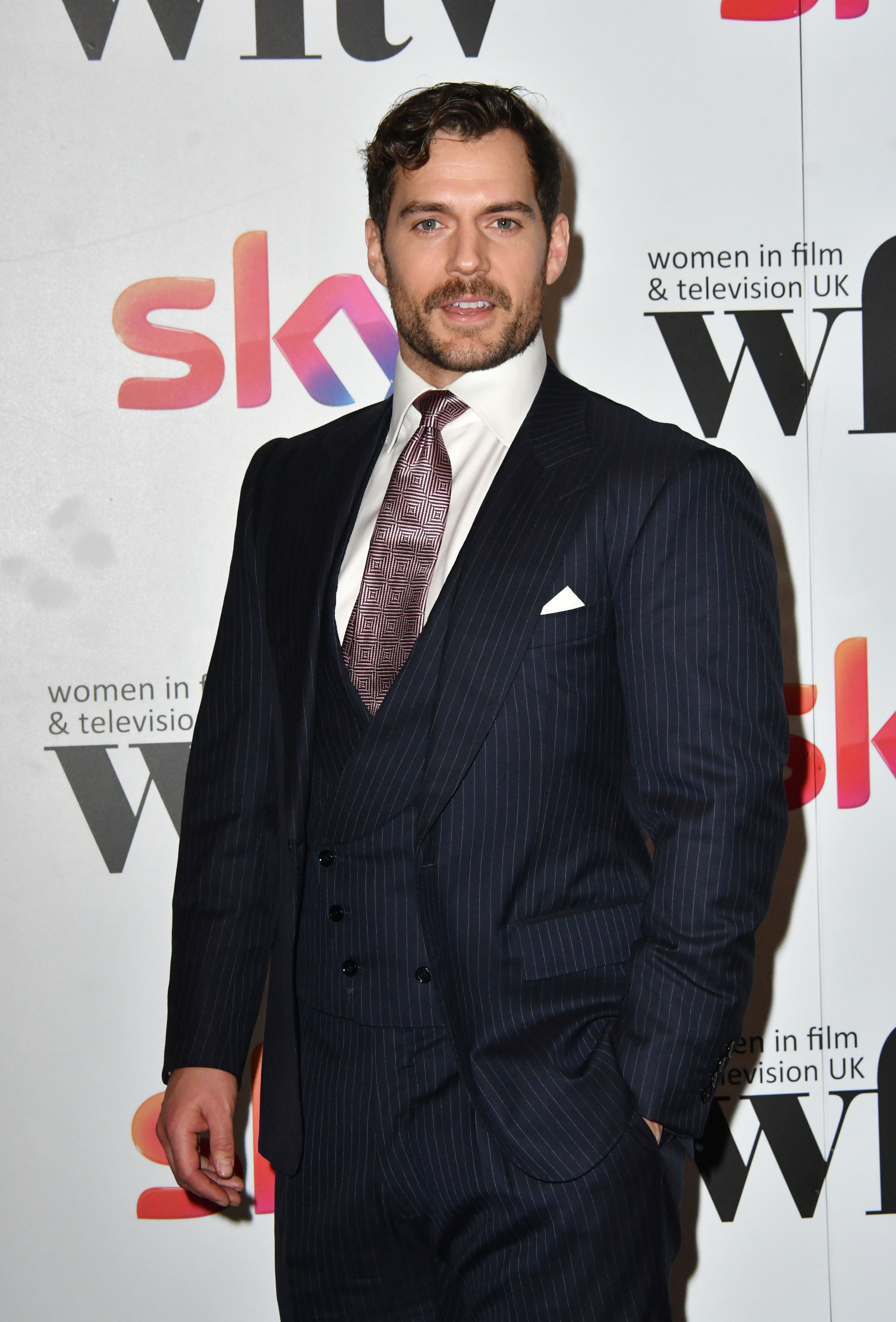 Henry Cavill attends the Sky Women in Film and TV Awards in London on Dec. 1, 2017.