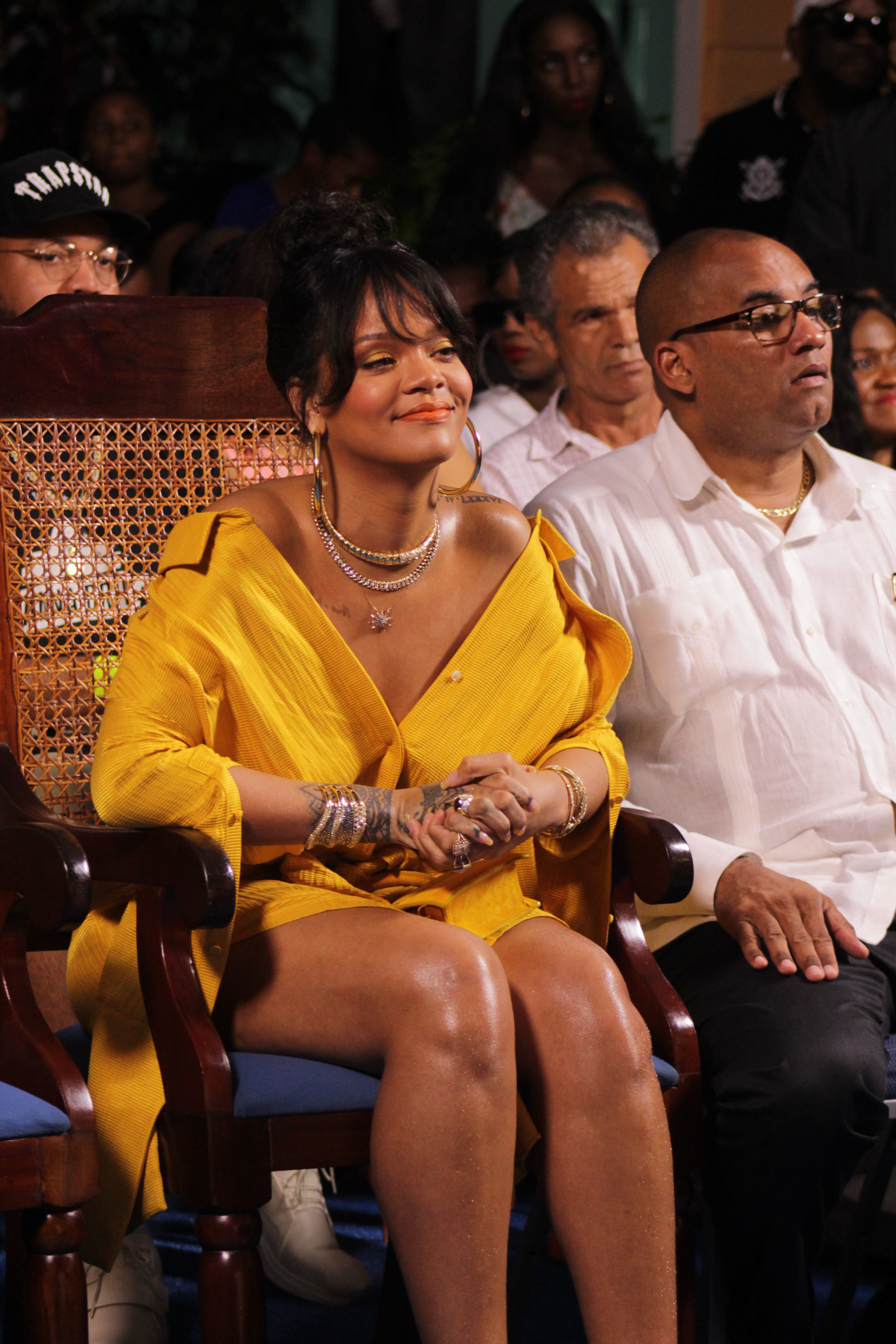 Rihanna attends a ceremony renaming the street where she grew up to Rihanna Drive in Barbados on Nov. 30, 2017.