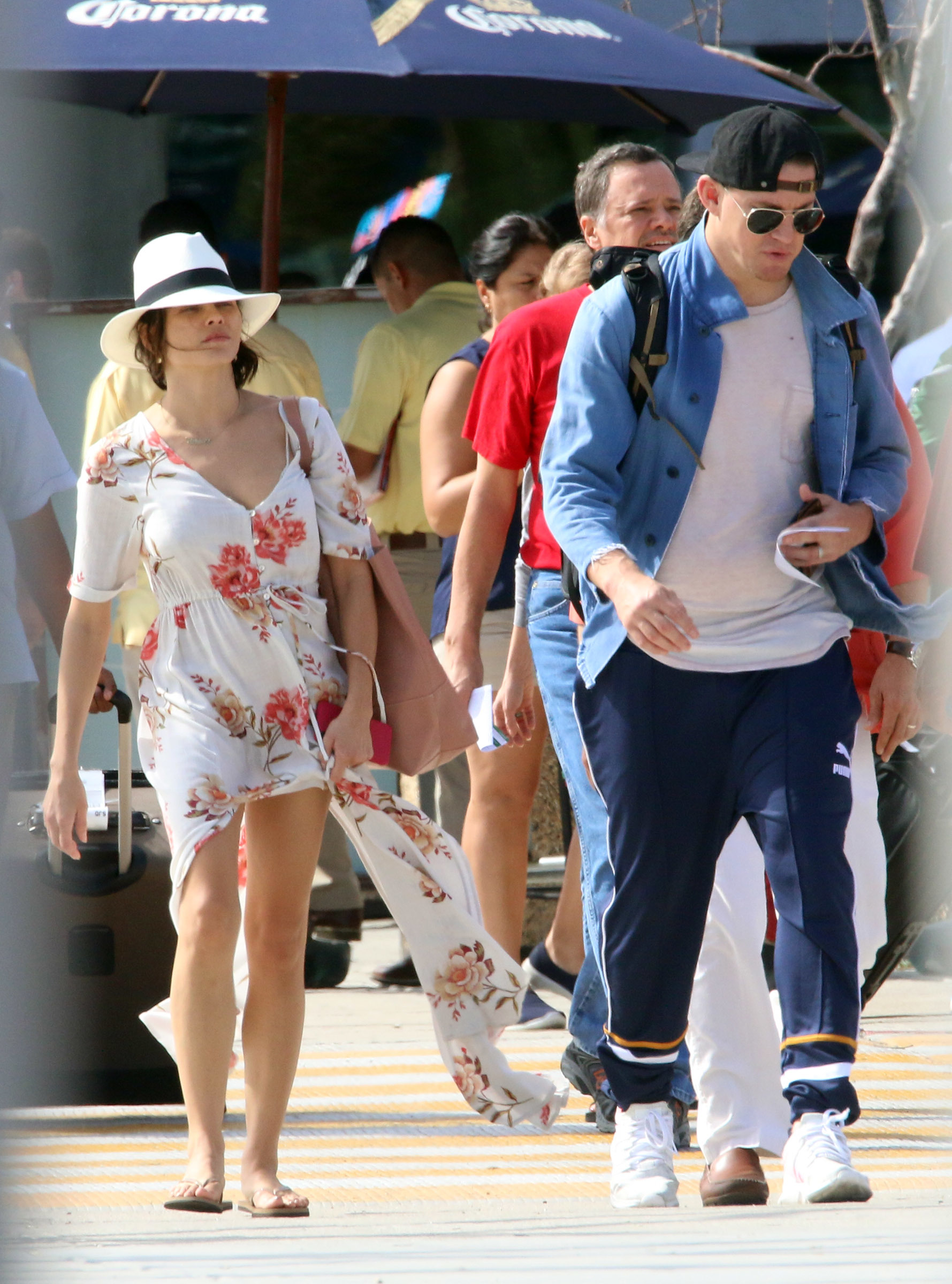 Jenna Dewan and Channing Tatum touch down at the airport in Cabo San Lucas, Mexico, on Dec. 1, 2017.