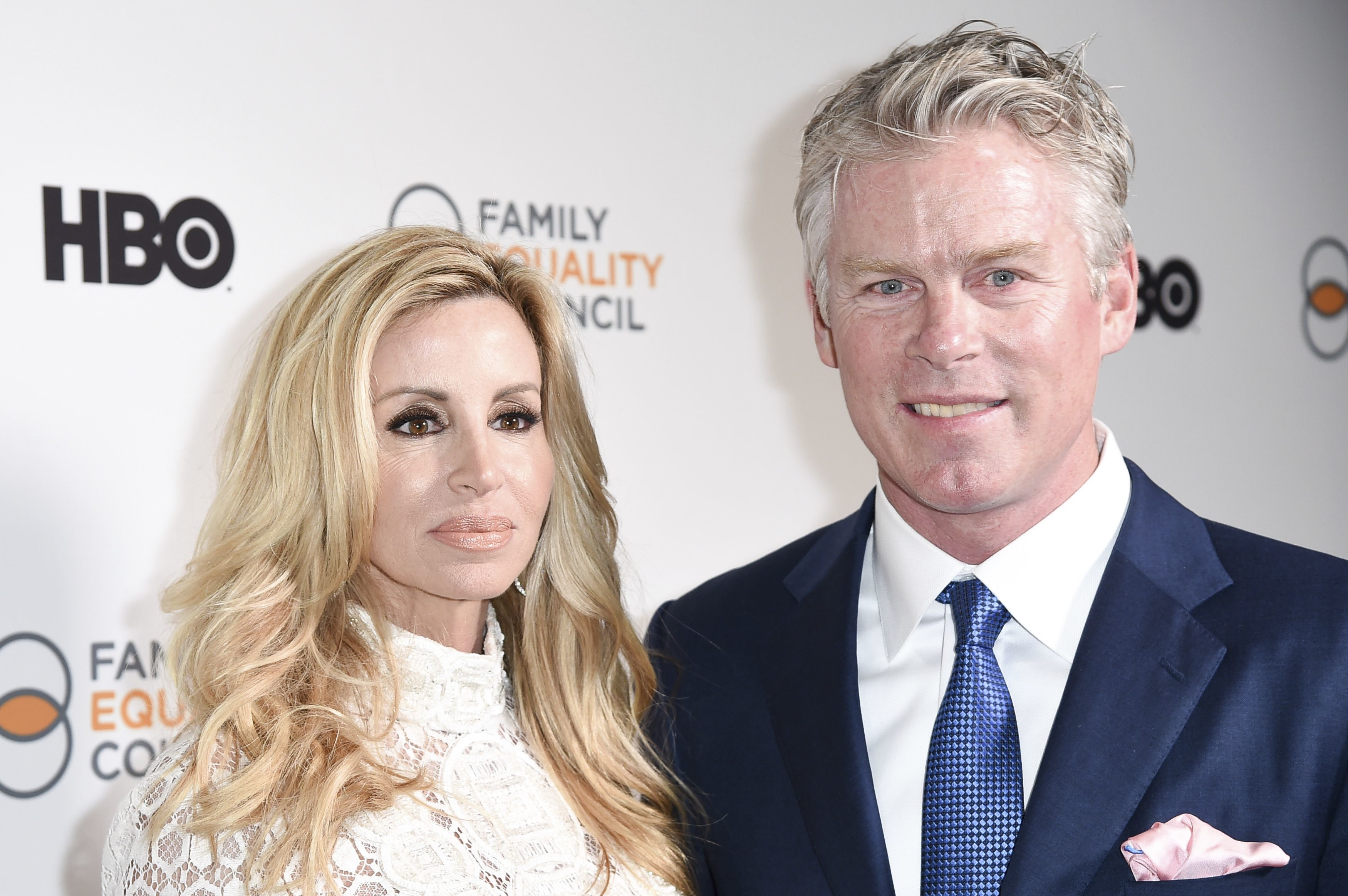 Camille Grammer and fiance David C. Meyer attend the 2017 Impact Awards held at the Beverly Wilshire Hotel in Beverly Hills on March 11, 2017.