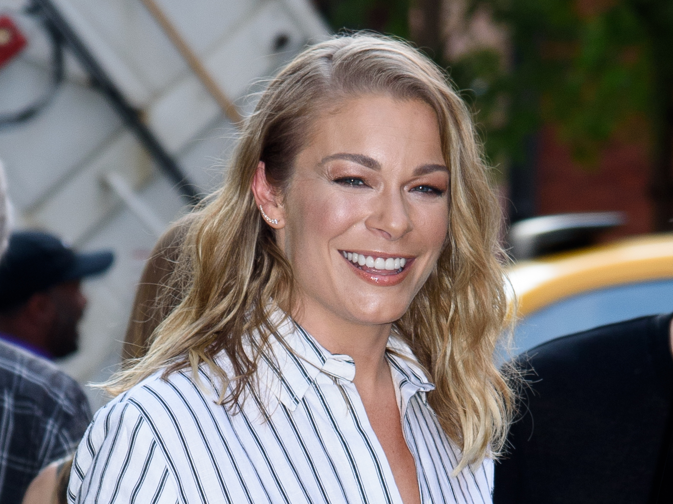 LeAnn Rimes attends the AOL Build in New York City on Aug. 18, 2017.