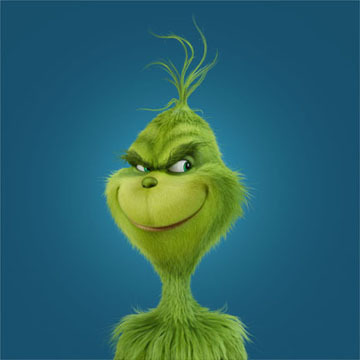 """Benedict Cumberbatch voices the Grinch in """"Dr. Seuss' How the Grinch Stole Christmas"""" in 2018."""
