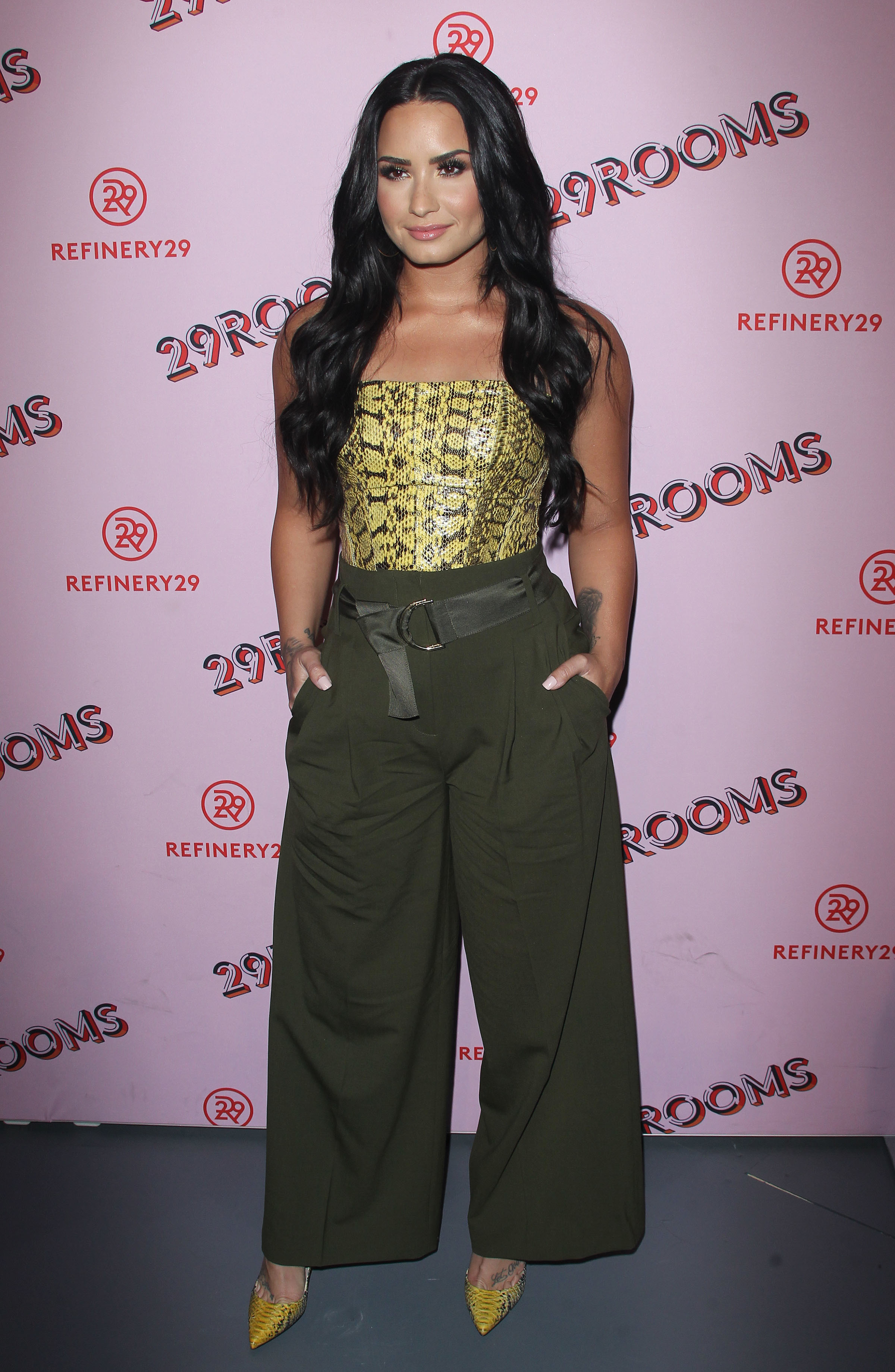 Demi Lovato attends the 29Rooms LA event in Los Angeles  on Dec. 6, 2017.