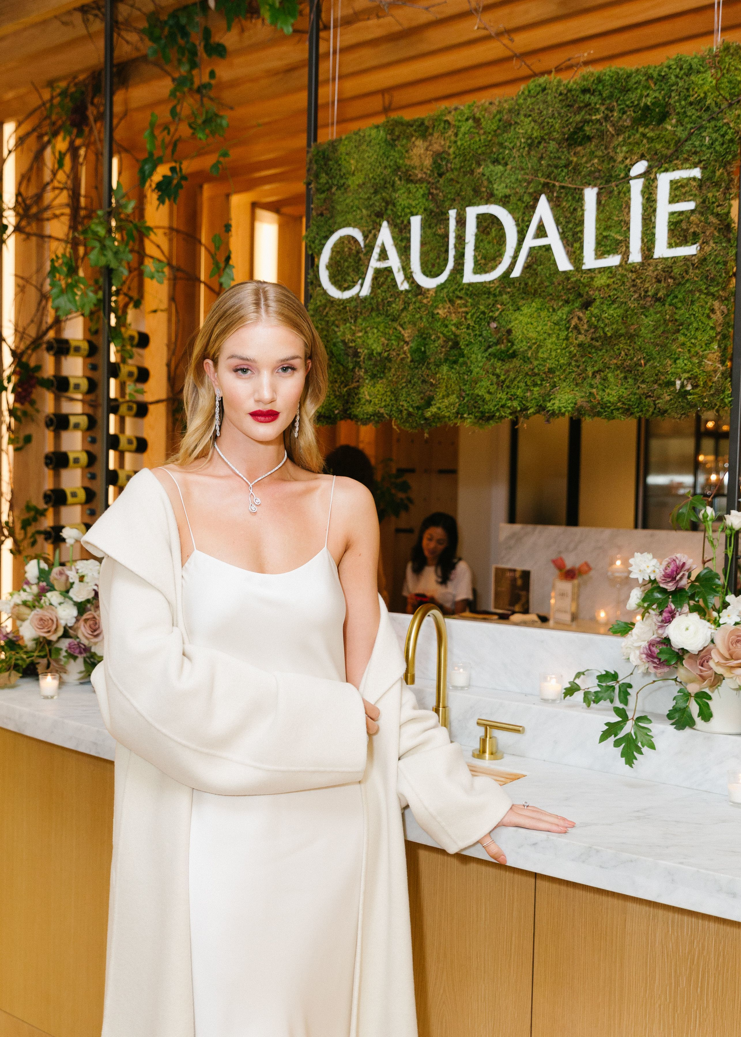 Rosie Huntington Whiteley attends the Caudalie Meatpacking VIP Opening in New York City on Dec. 6, 2017.