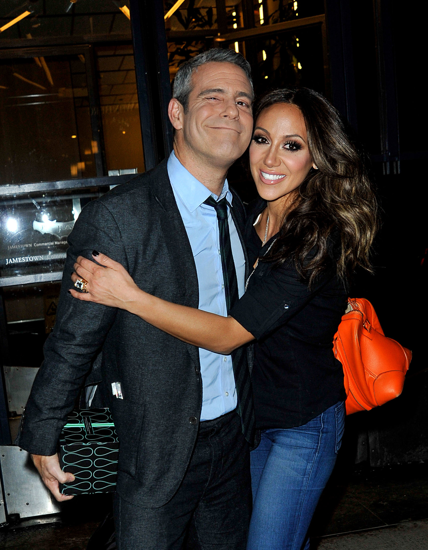 Andy Cohen and Melissa Gorga are seen in New York City on March 8, 2015.