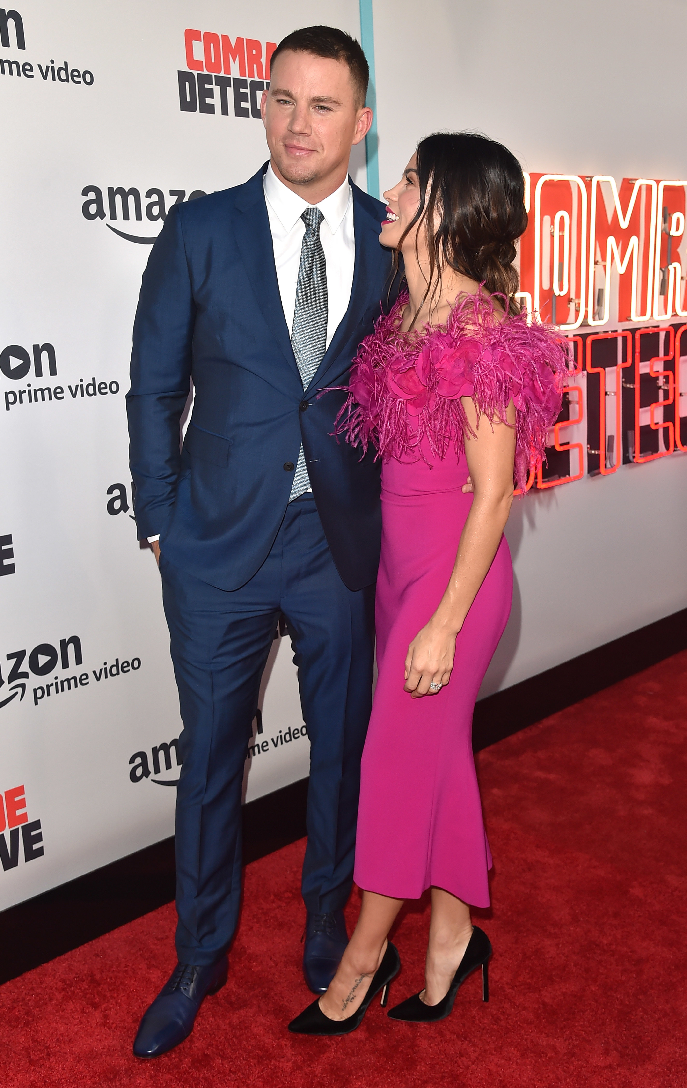 """Channing Tatum and Jenna Dewan Tatum attend the premiere of Amazon's """"Comrade Detective"""" at ArcLight Hollywood in Hollywood  on Aug. 3, 2017."""