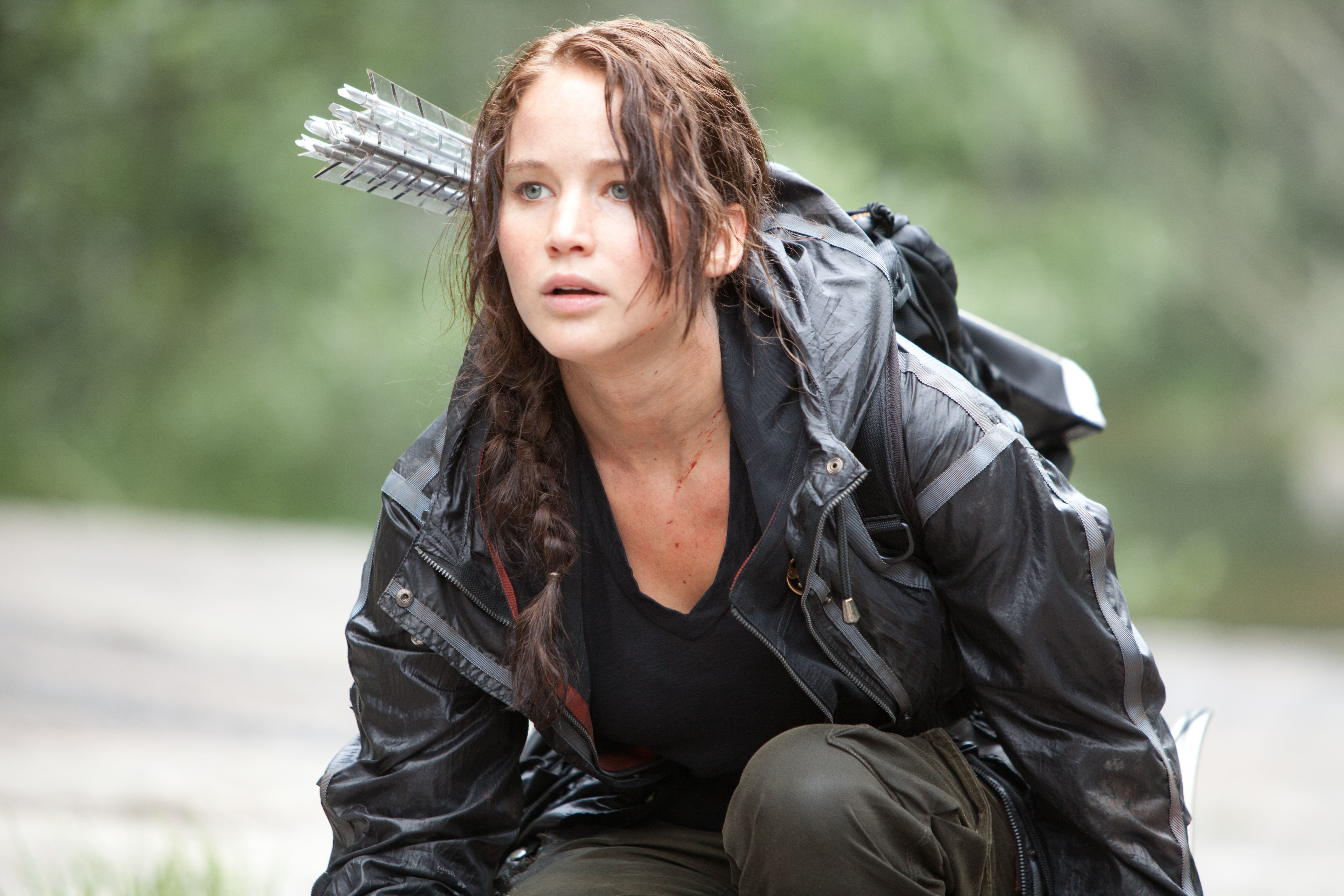"""Jennifer Lawrence starred as Katniss in """"The Hunger Games"""" in 2012."""