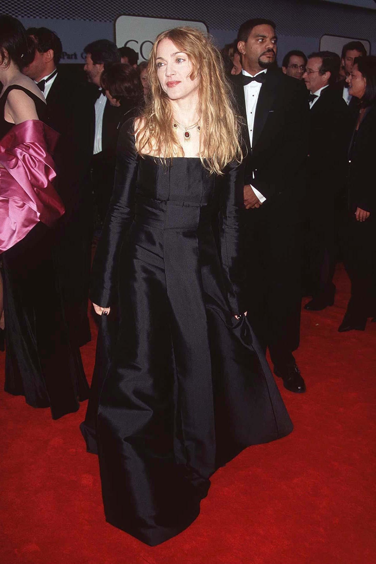 Madonna attends the 55th annual Golden Globes awards in Beverly Hills on Jan. 18, 1998.