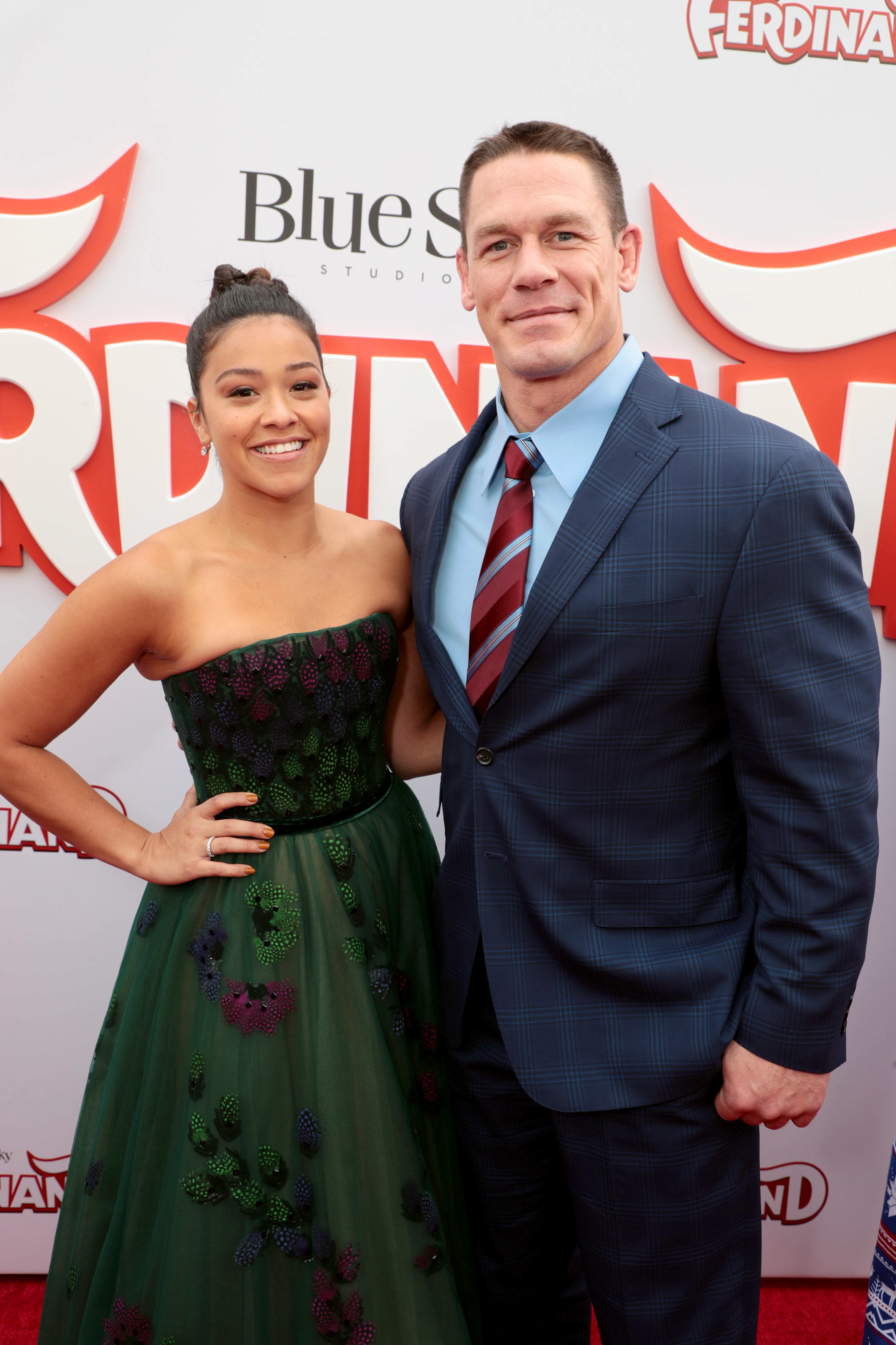 Gina Rodriguez and John Cena attend the Twentieth Century Fox and Blue Sky Studios FERDINAND at the Zanuck Theater in Los Angeles on Dec. 10, 2017.