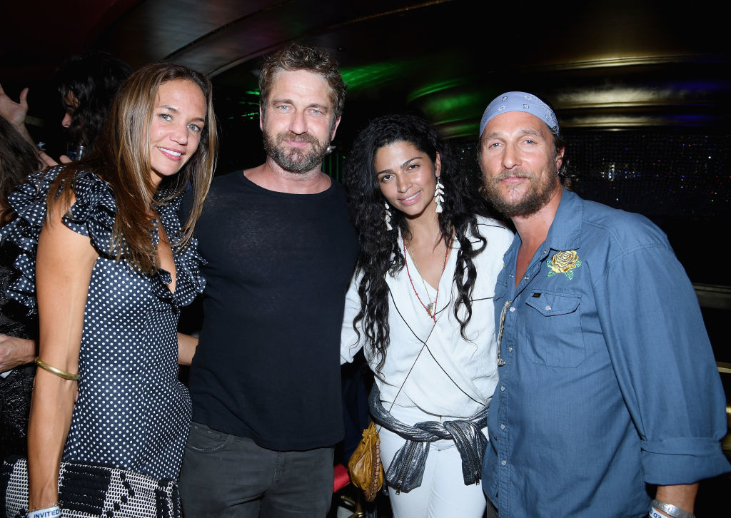 Morgan Brown, Gerard Butler, Camila Alves and Matthew McConaughey attend the Duran Duran live performance for SiriusXM at the Faena Theater in Miami Beach during Art Basel on Dec. 9, 2017.