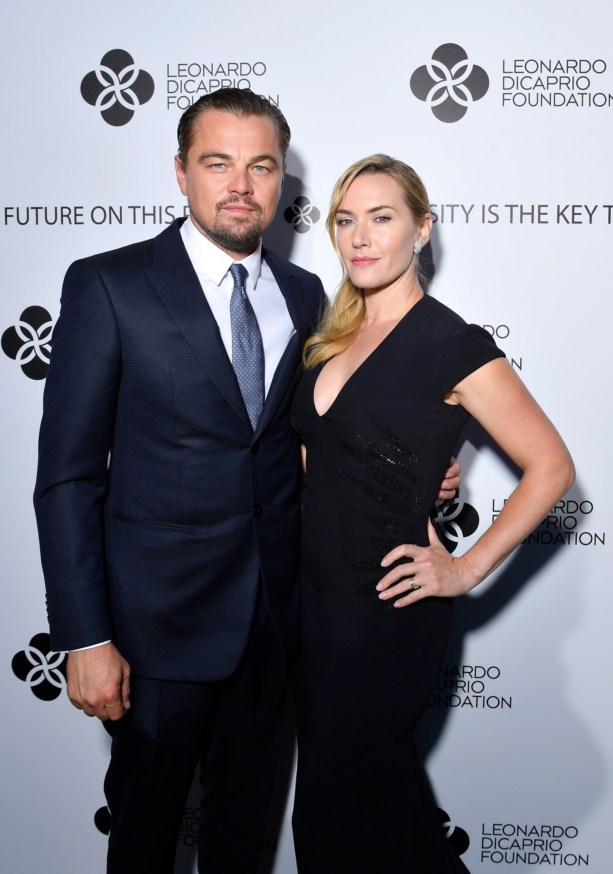 Leonardo DiCaprio and Kate Winslet attend the cocktail reception of the Leonardo DiCaprio Foundation 4th Annual Saint Tropez Gala at Domaine Bertaud Belieu on July 26, 2017.