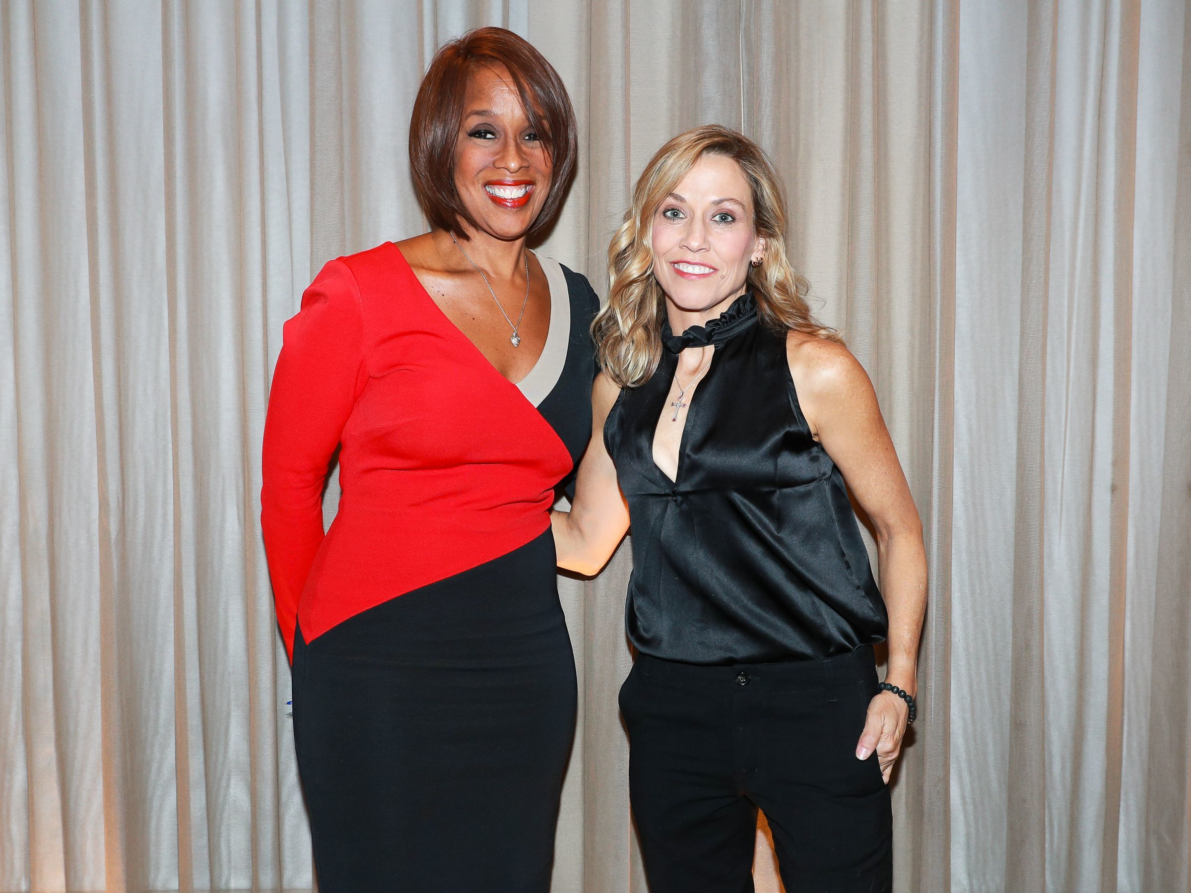 Gayle King and Sheryl Crow attend the Sandy Hook Promise Benefit in New York on Dec. 12, 2017.