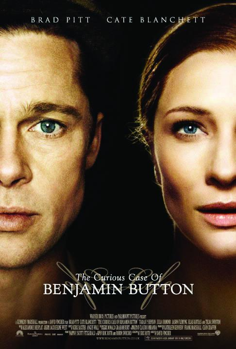 """Brad Pitt and Cate Blanchett appear on the movie poster for 2008's """"The Curious Case of Benjamin Button."""""""