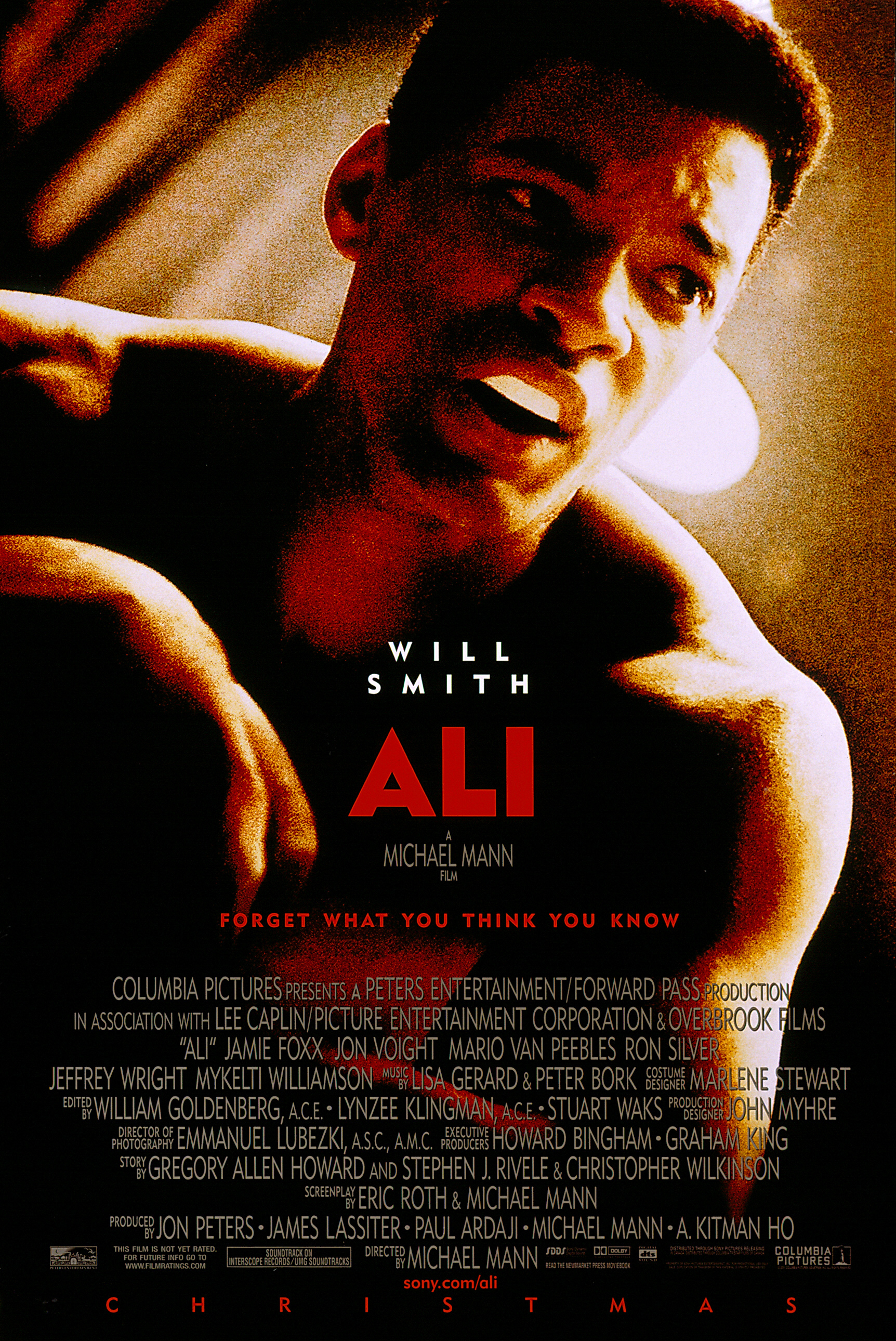 "Will Smith appears on the movie poster for 2001's ""Ali."""