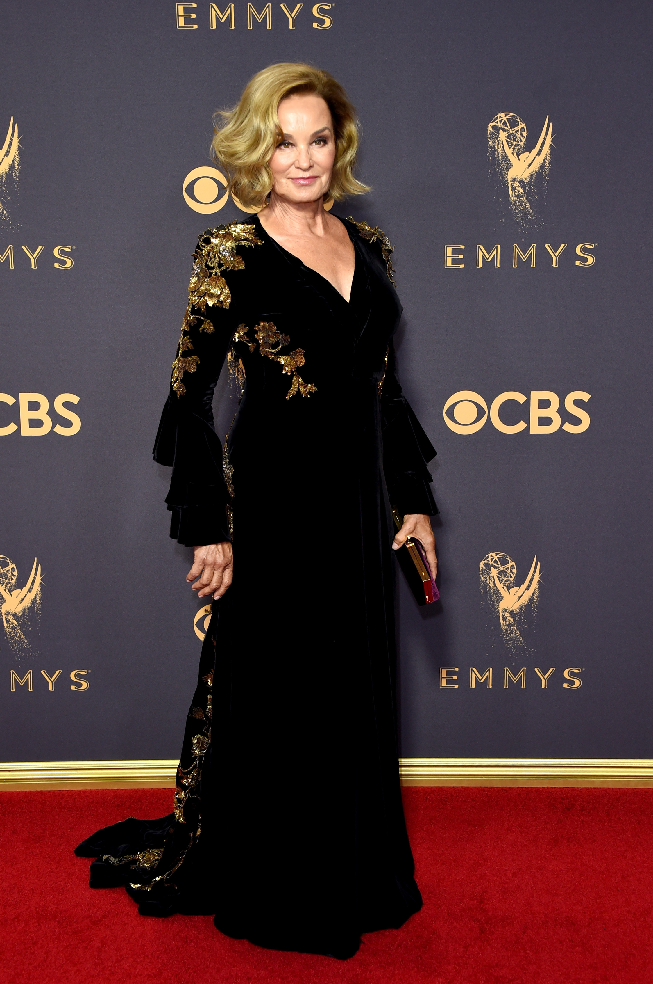 Jessica Lange attends the 69th Annual Primetime Emmy Awards at Microsoft Theater in Los Angeles on Sept. 17, 2017.