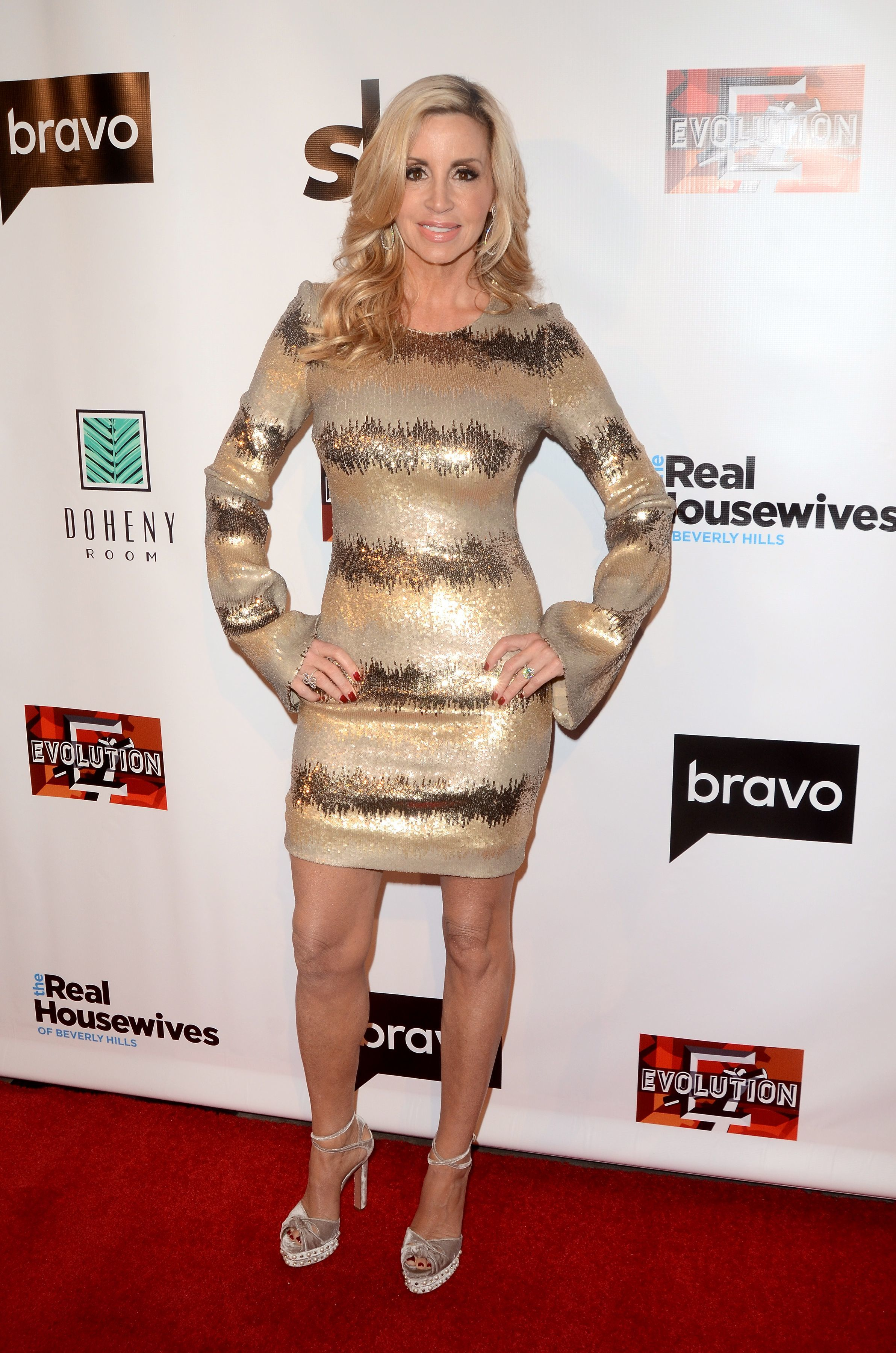"Camille Grammer attends ""The Real Housewives of Beverly Hills"" TV Show Season 8 premiere in Los Angeles on Dec. 15, 2017."