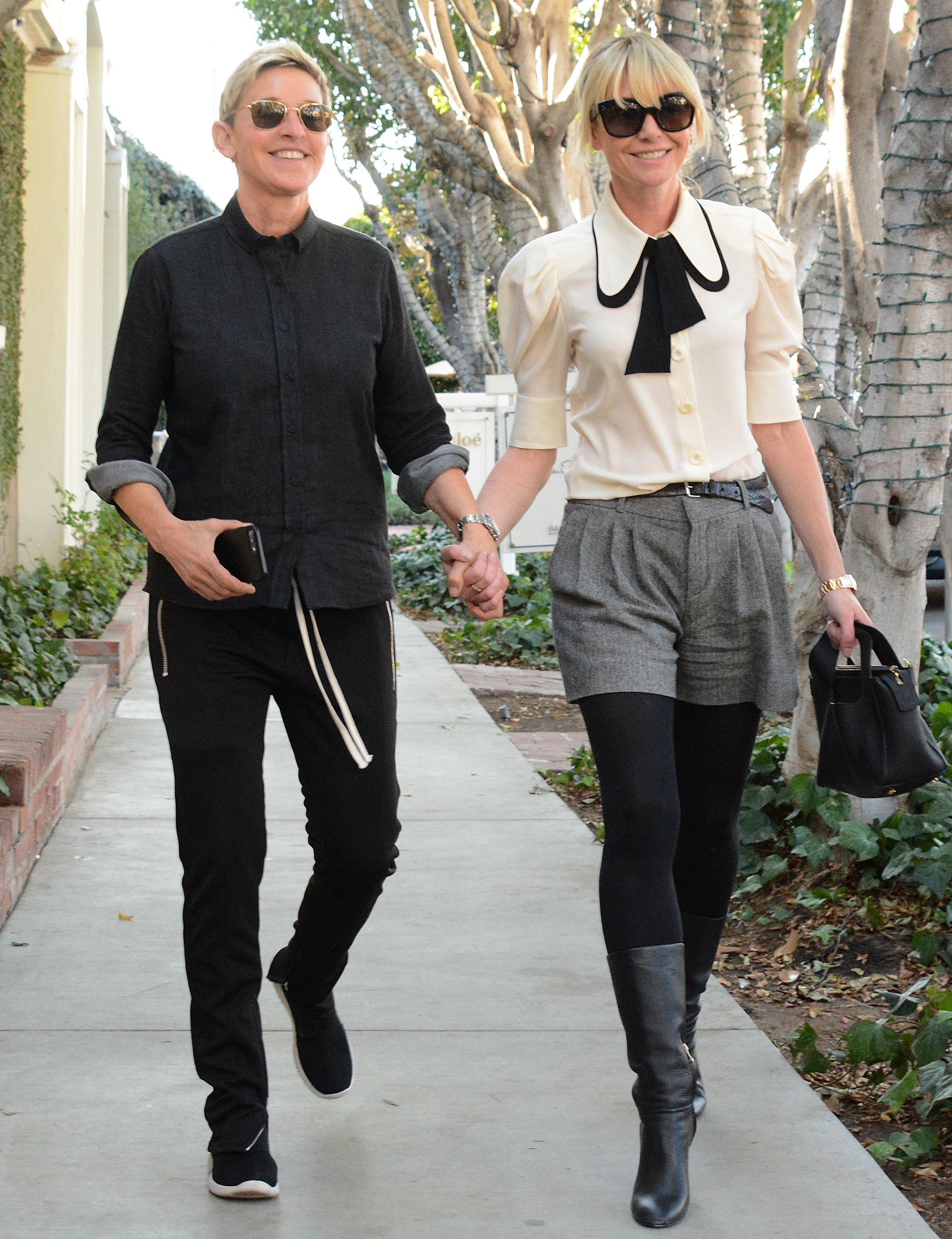 Portia de Ross and Ellen DeGeneres are spotted out and about in Los Angeles on Dec. 16, 2017.