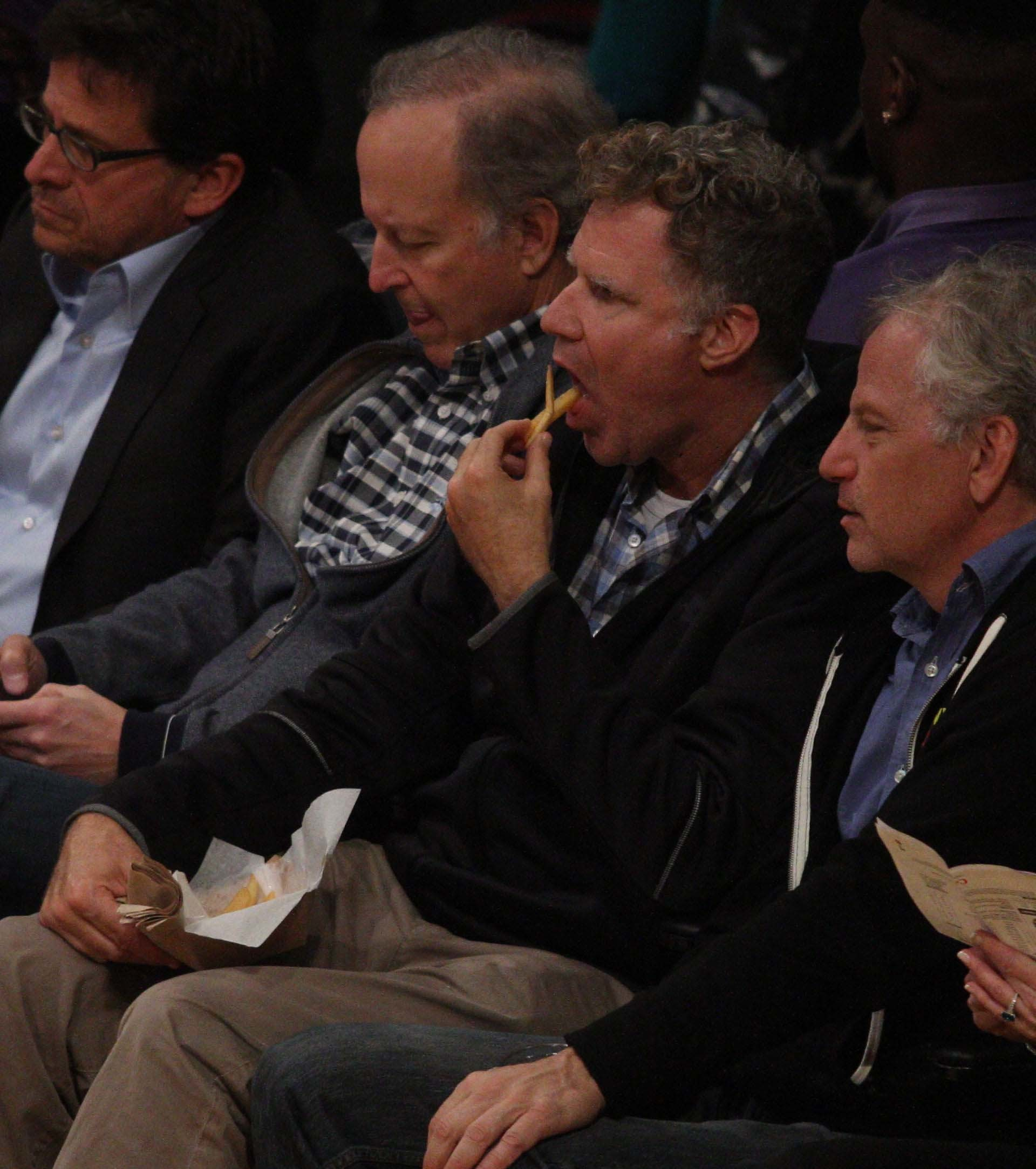 Will Ferrell attends the Lakers vs Warriors game in Los Angeles on Nov. 29, 2017.