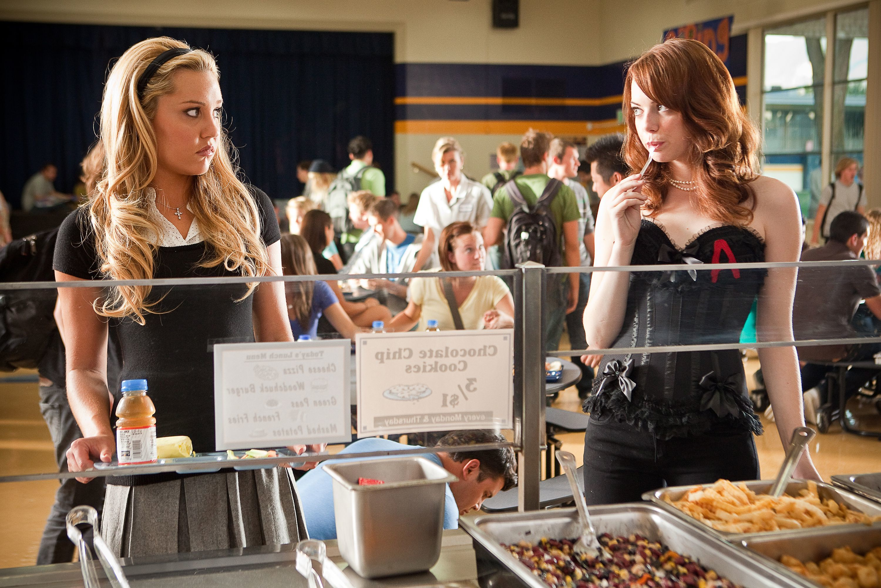 """Amanda Bynes and Emma Stone starred in 2010's """"Easy A."""""""