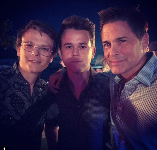 """Party pic. #newyearseve #boys""   Rob Lowe, who posted this photo of himself with his sons on Instagram on Dec. 31, 2017."