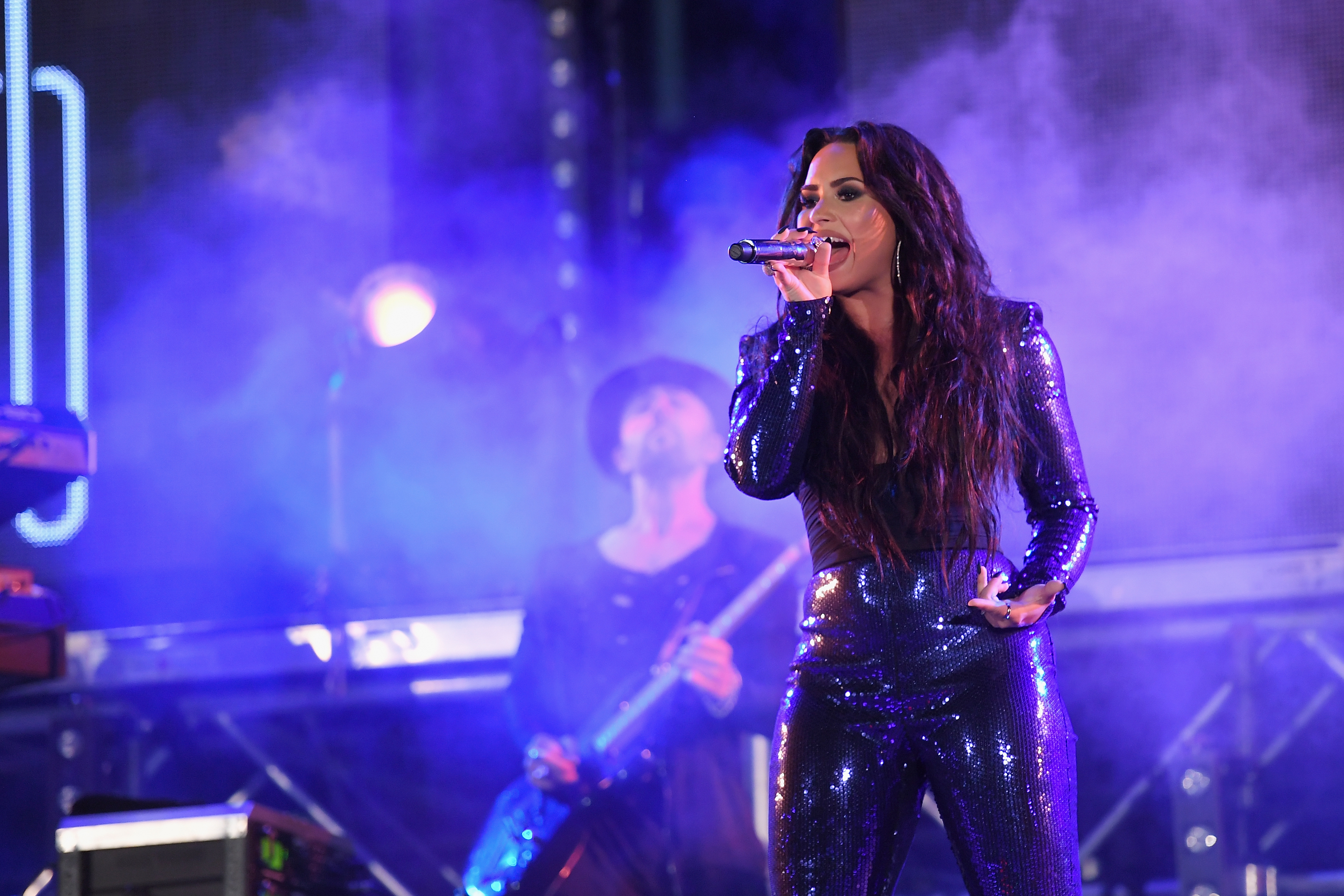 Demi Lovato performs onstage at Fontainebleau Miami Beach in Miami on Dec. 31, 2017.