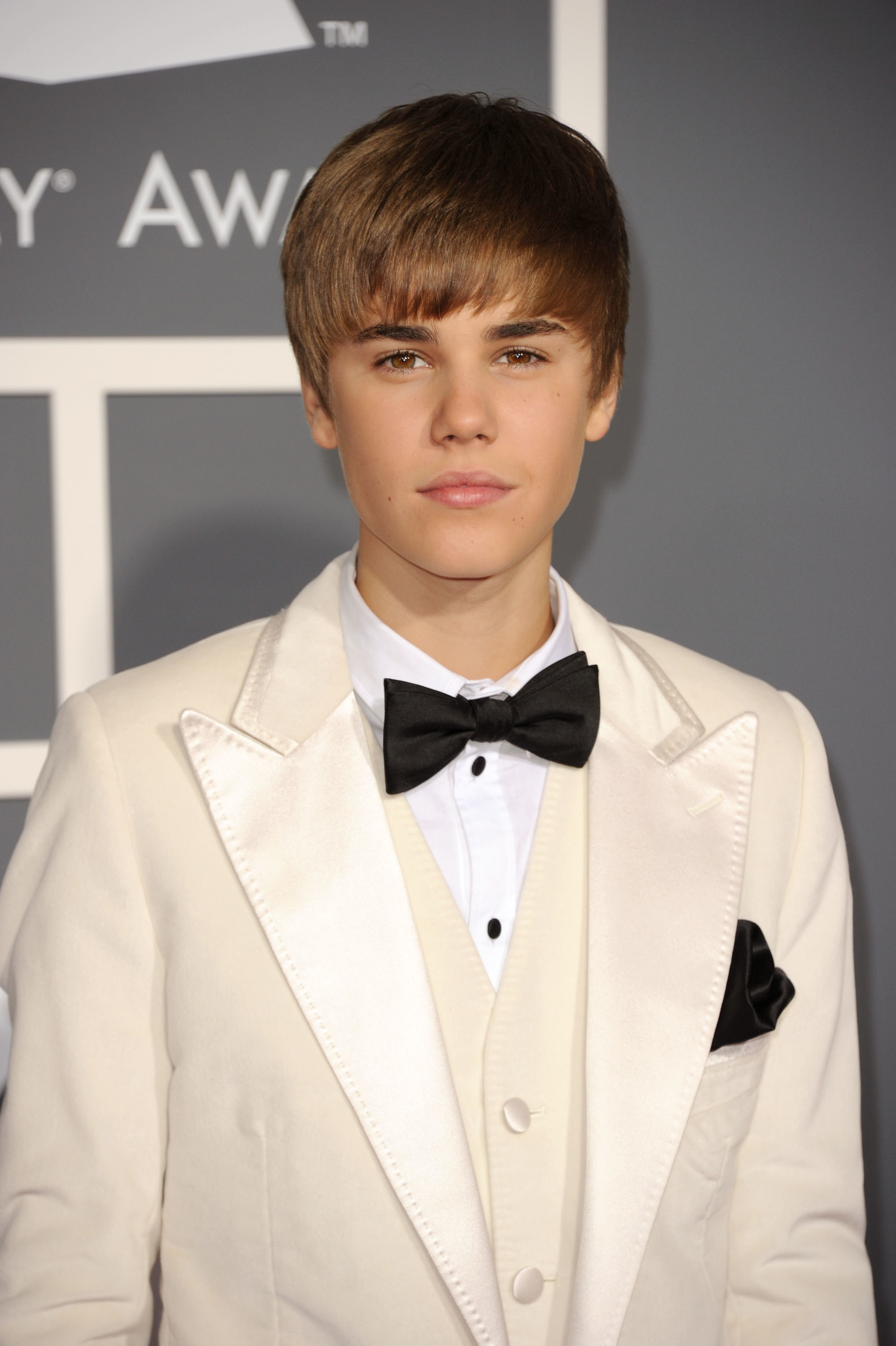 Justin Bieber arrives at The 53rd Annual GRAMMY Awards held in Los Angeles on Feb. 13, 2011.