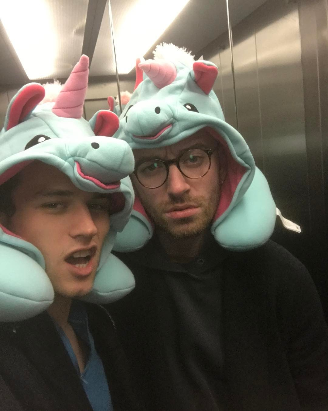 """""""Rare sighting in London 🦄🦄""""   Brandon Flynn, who posted this selfie with Sam Smith on Instagram on Dec. 21, 2017"""