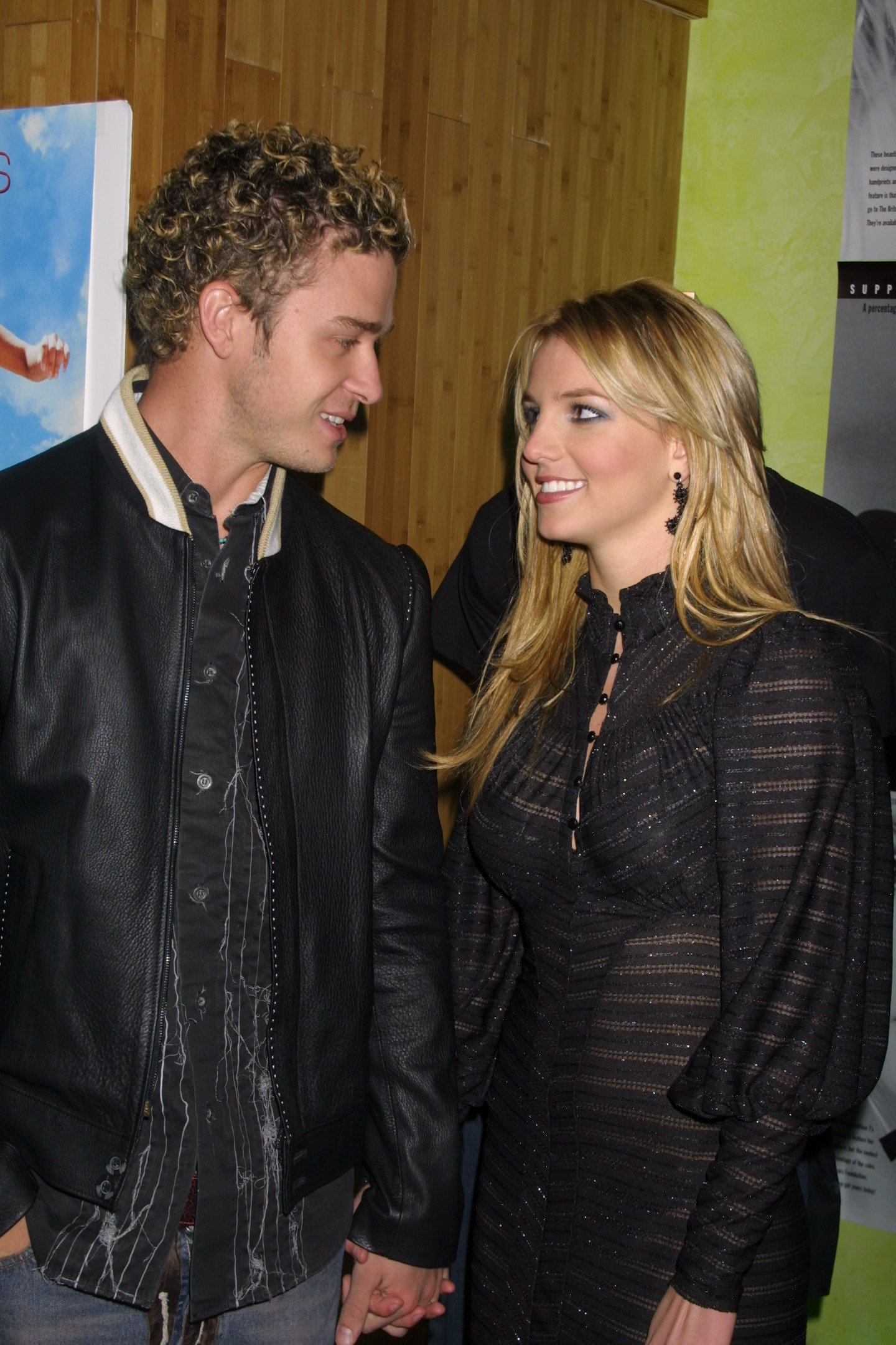 Justin Timberlake and Britney Spears on Feb. 13, 2002.