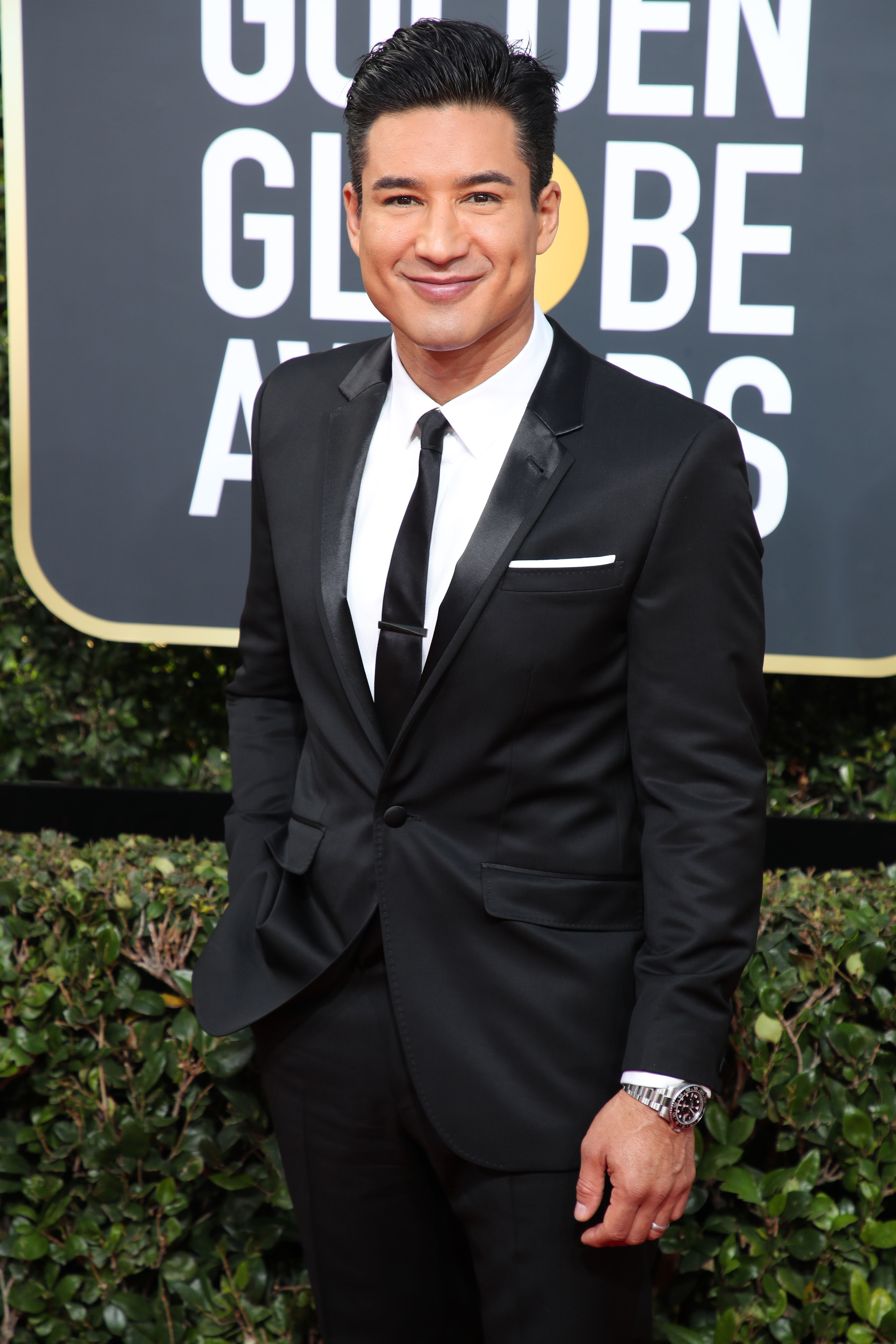 Mario Lopez attends the 75th Annual Golden Globe Awards in Los Angeles on Jan. 7, 2018.