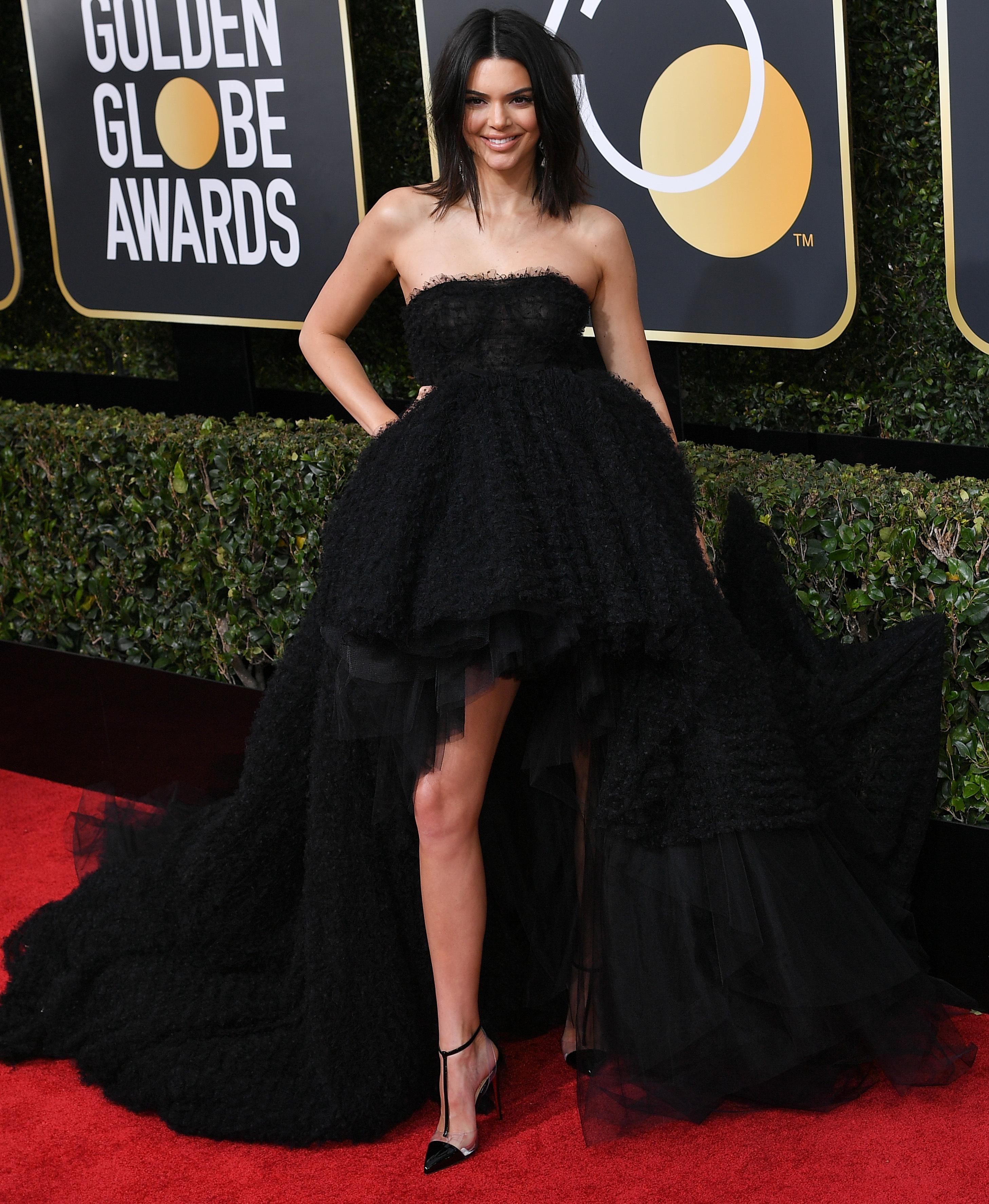 Kendall Jenner slams acne critics after Golden Globes